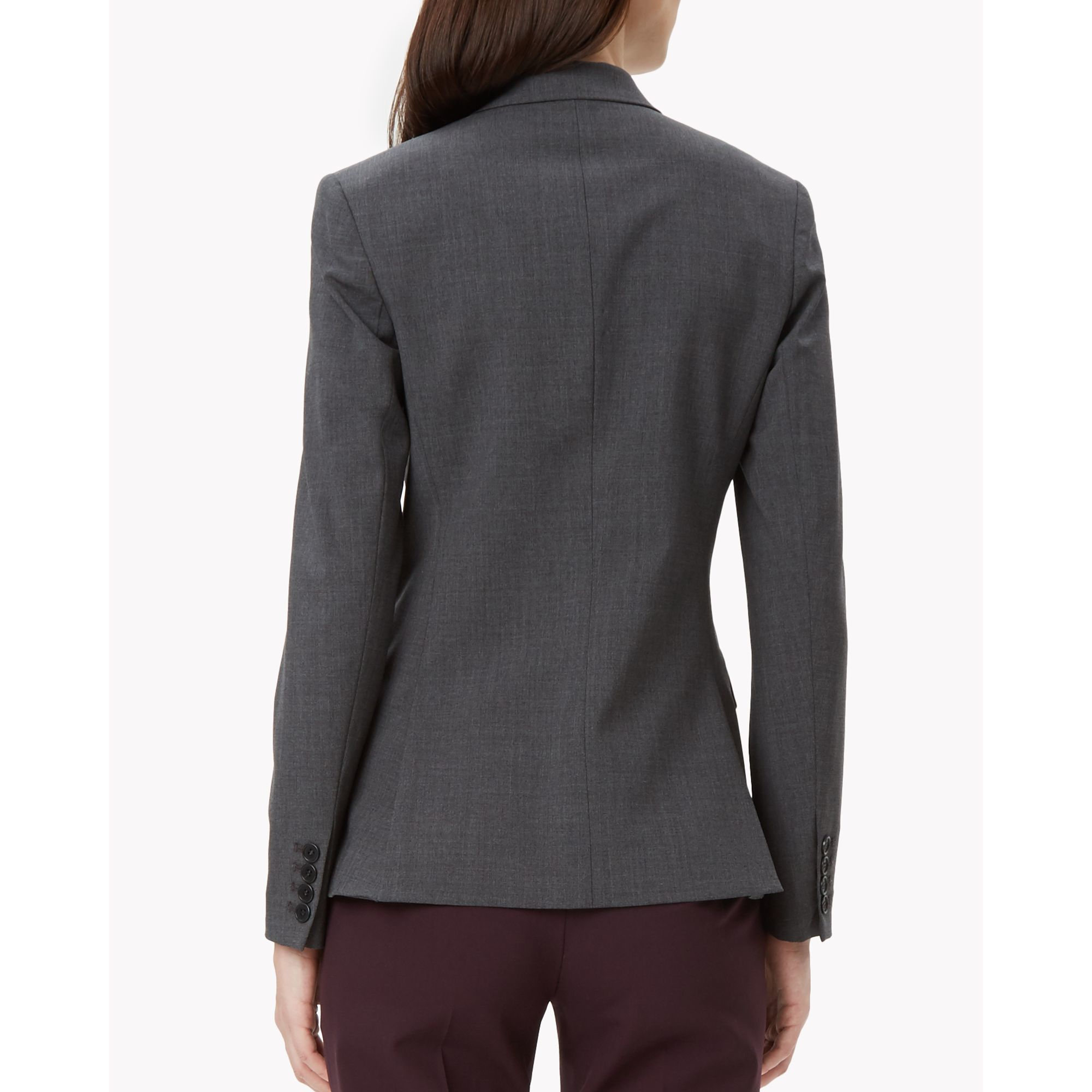 Theory italian stretch wool shrunken jacket in gray lyst for How to stretch wool that has shrunk