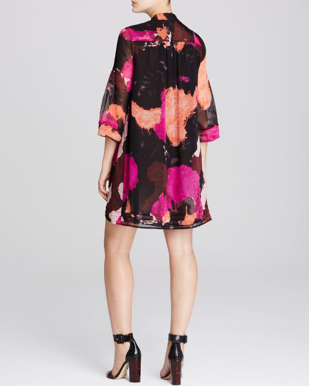 Diane Von Furstenberg Layla Abstract Print Silk Dress In