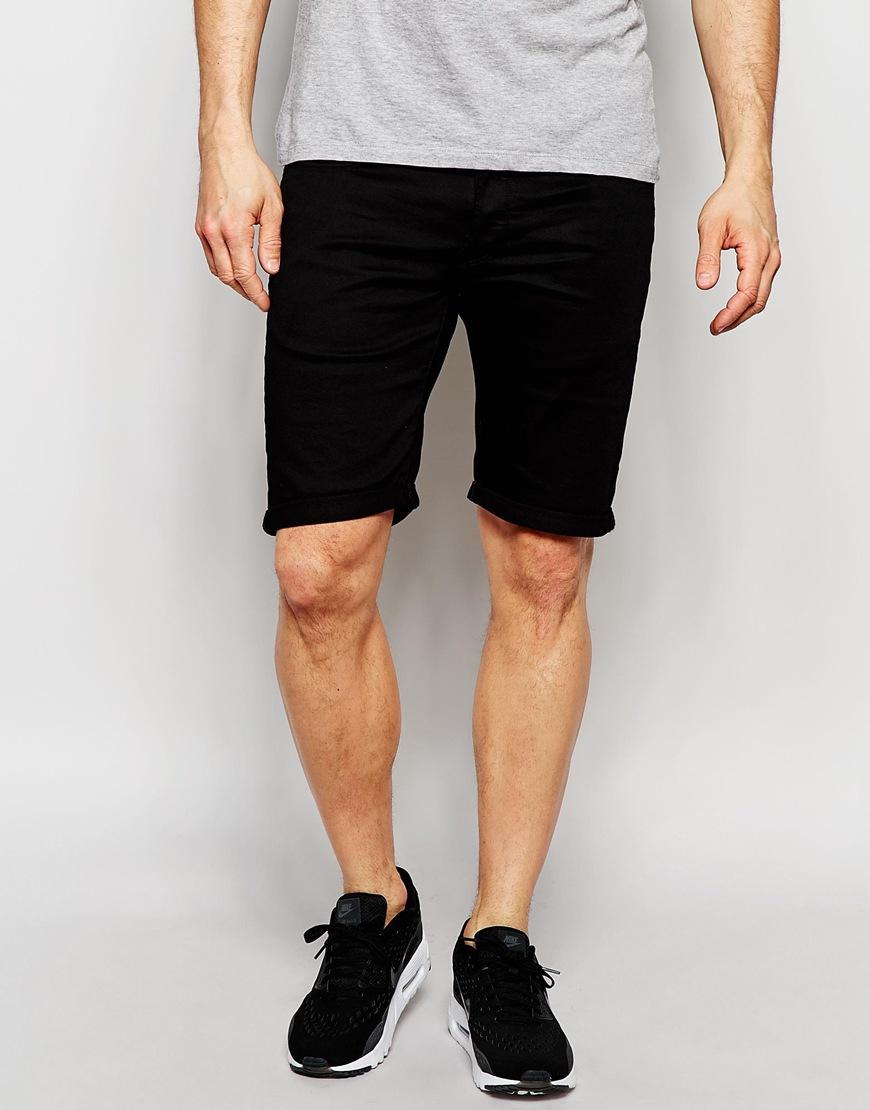 a5edf3a8ee G-Star RAW Denim Shorts 3301 Deconstructed Slim Fit Stretch Black ...