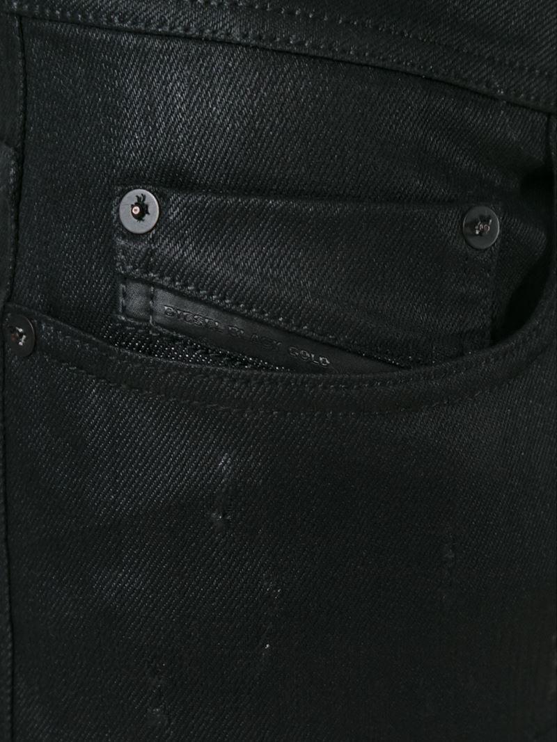 Diesel black gold 'type-2510' Coated Jeans in Black for Men | Lyst