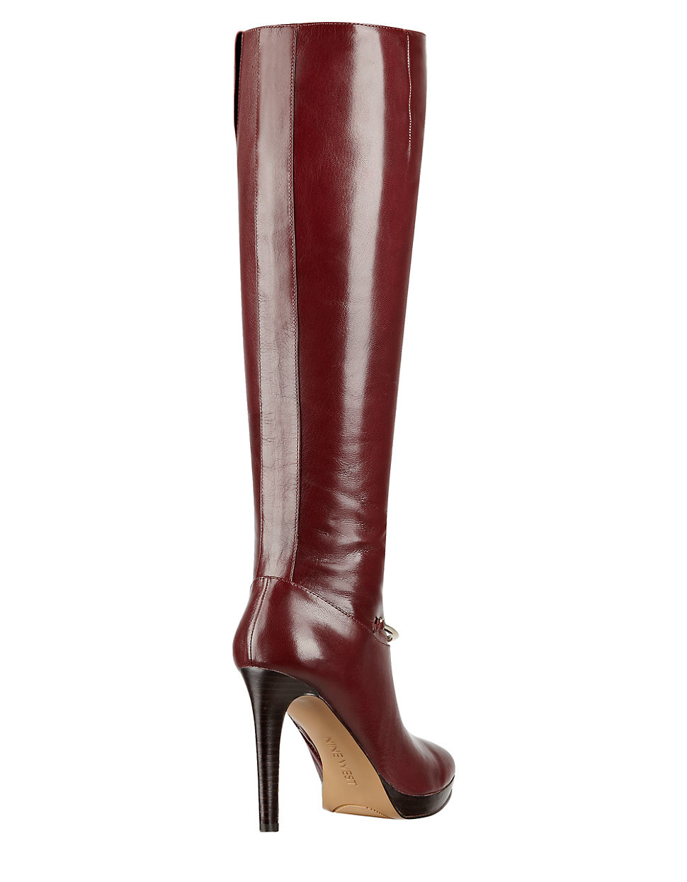 70ee367e4e2 Nine West Red Leather Boots Best Picture Of Boot Imageco. Fame Knee High  Boots