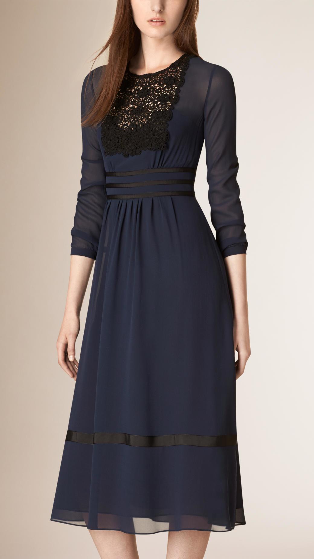 Burberry Lace Trim Sil... Victoria Beckham Clothing