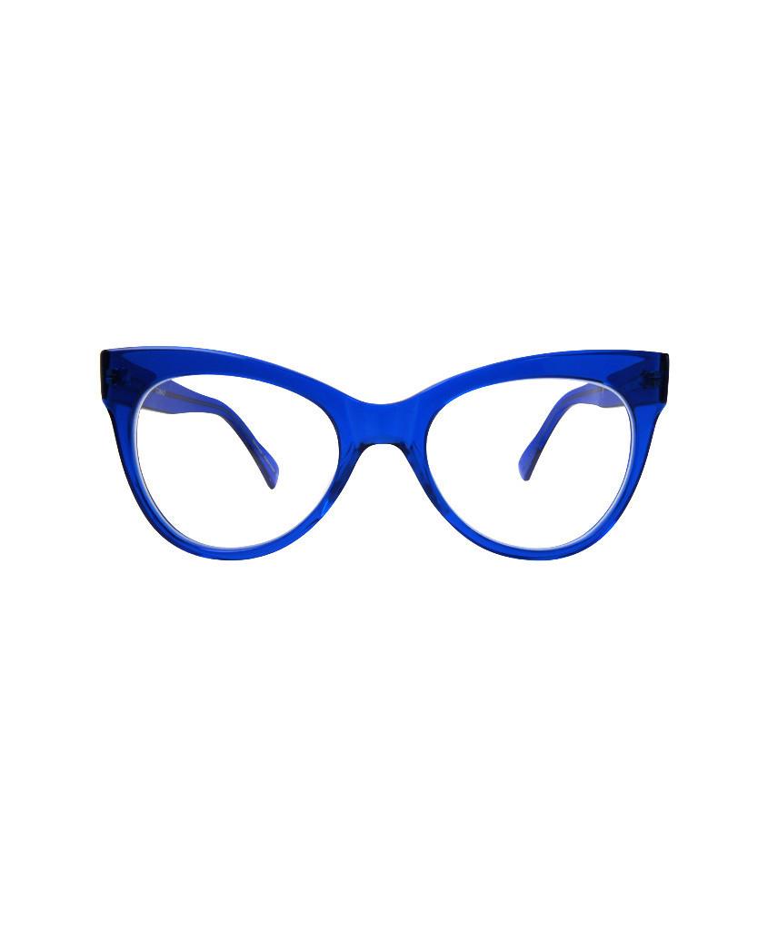 Blue Cat Eye Sunglasses  norma li square cat eye glasses cobalt in blue lyst