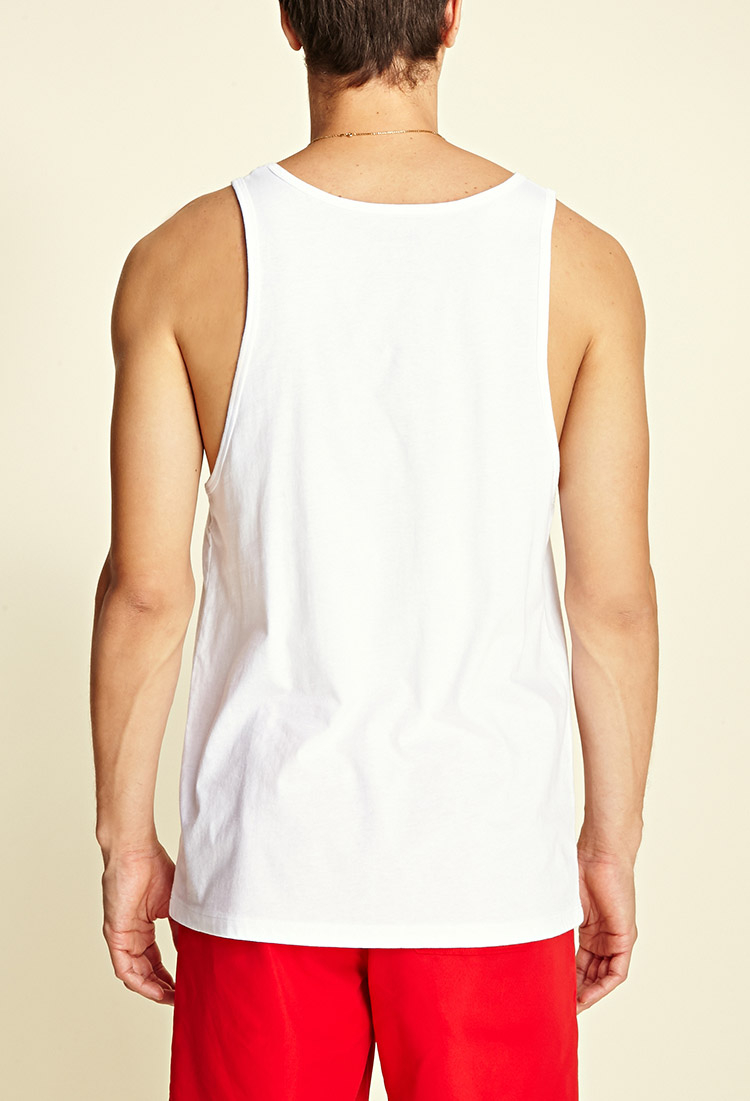 98dbe63b276bee Lyst - Forever 21 Jaws Tank Top in White for Men