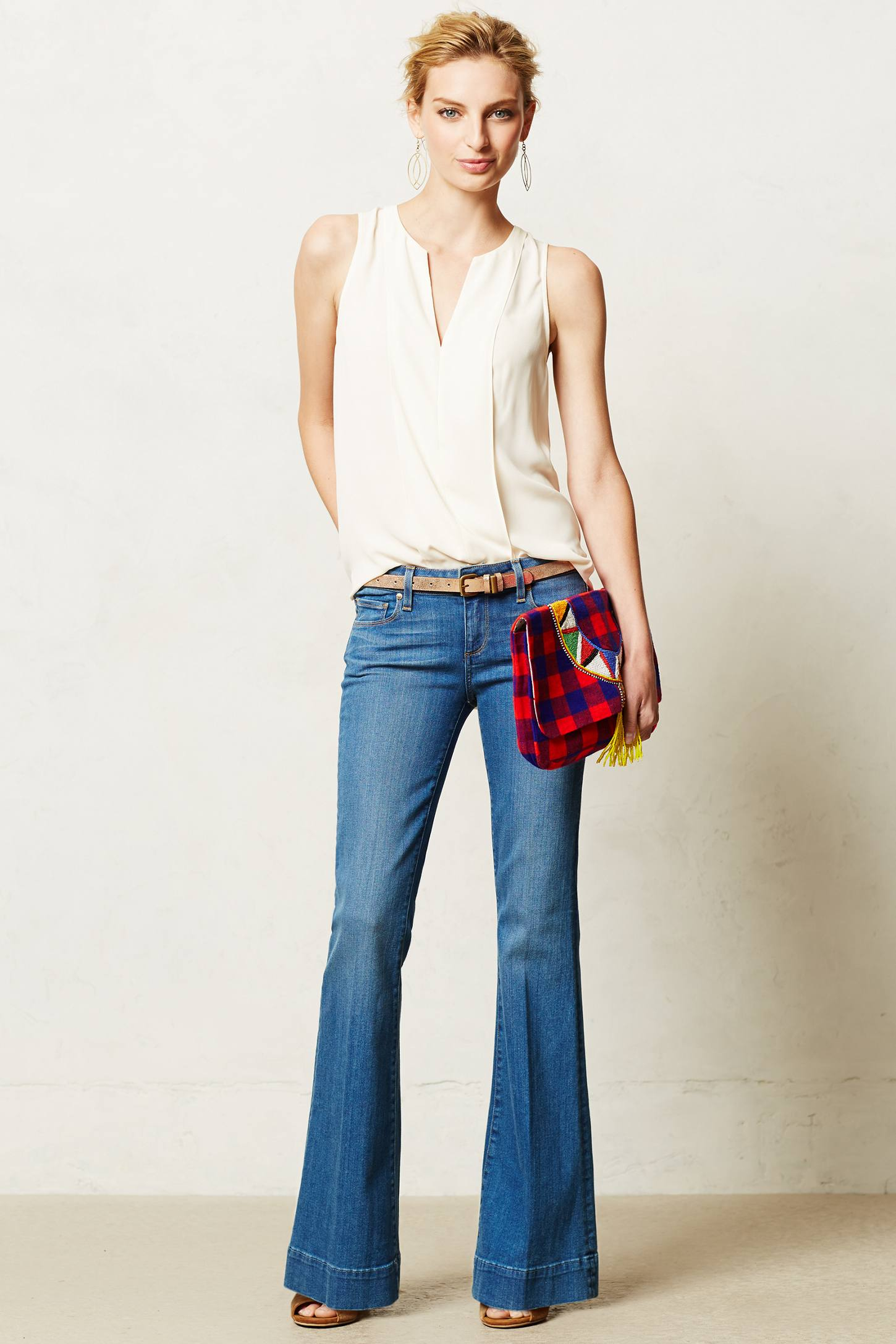 Anthropologie Paige Petite Fiona Flare Jeans in Blue | Lyst