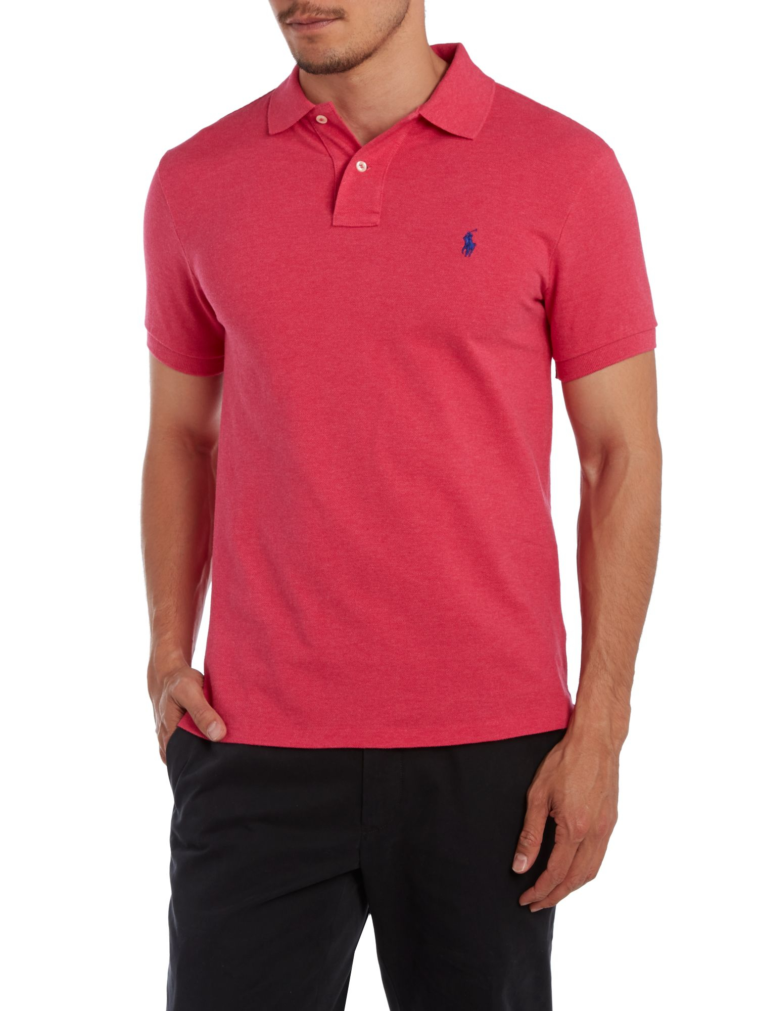 Polo Ralph Lauren Slim Fit Short Sleeve Mesh Polo Shirt In
