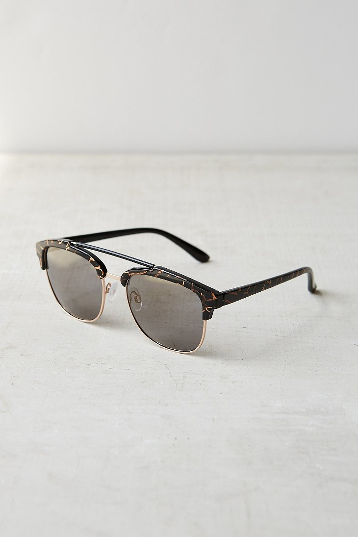 Glasses Frames Urban Outfitters : Urban outfitters Speckled Frame Sunglasses in Black for ...