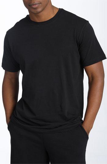 Daniel buchler peruvian pima cotton t shirt in black for for Peruvian cotton t shirts