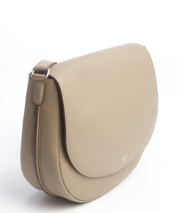 C¨¦line Taupe Leather Shoulder Bag in Khaki (taupe) | Lyst