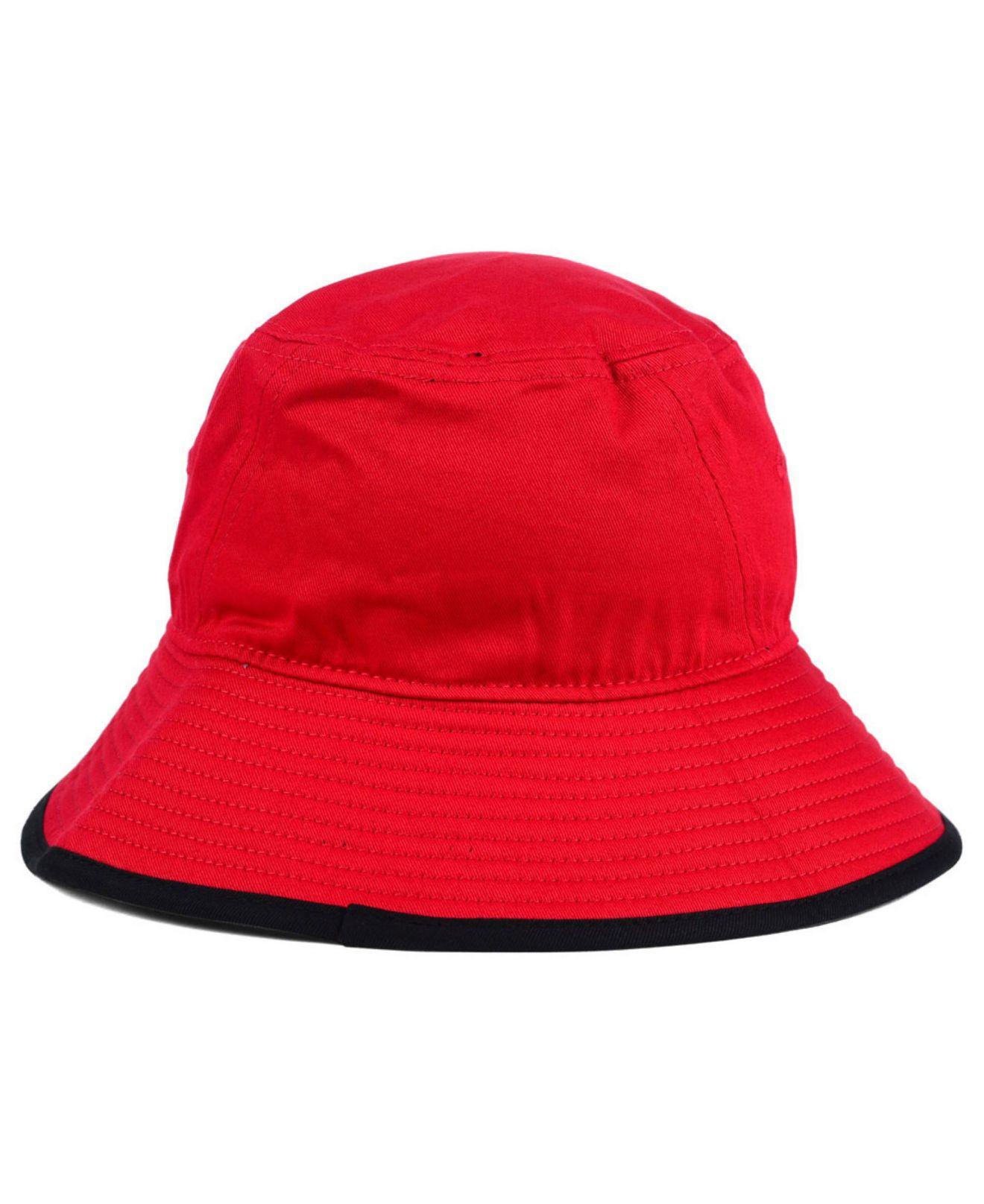 cff5ca1a4c8 ... australia lyst ktz texas tech red raiders tip bucket hat in red for men  9ae0d 75146
