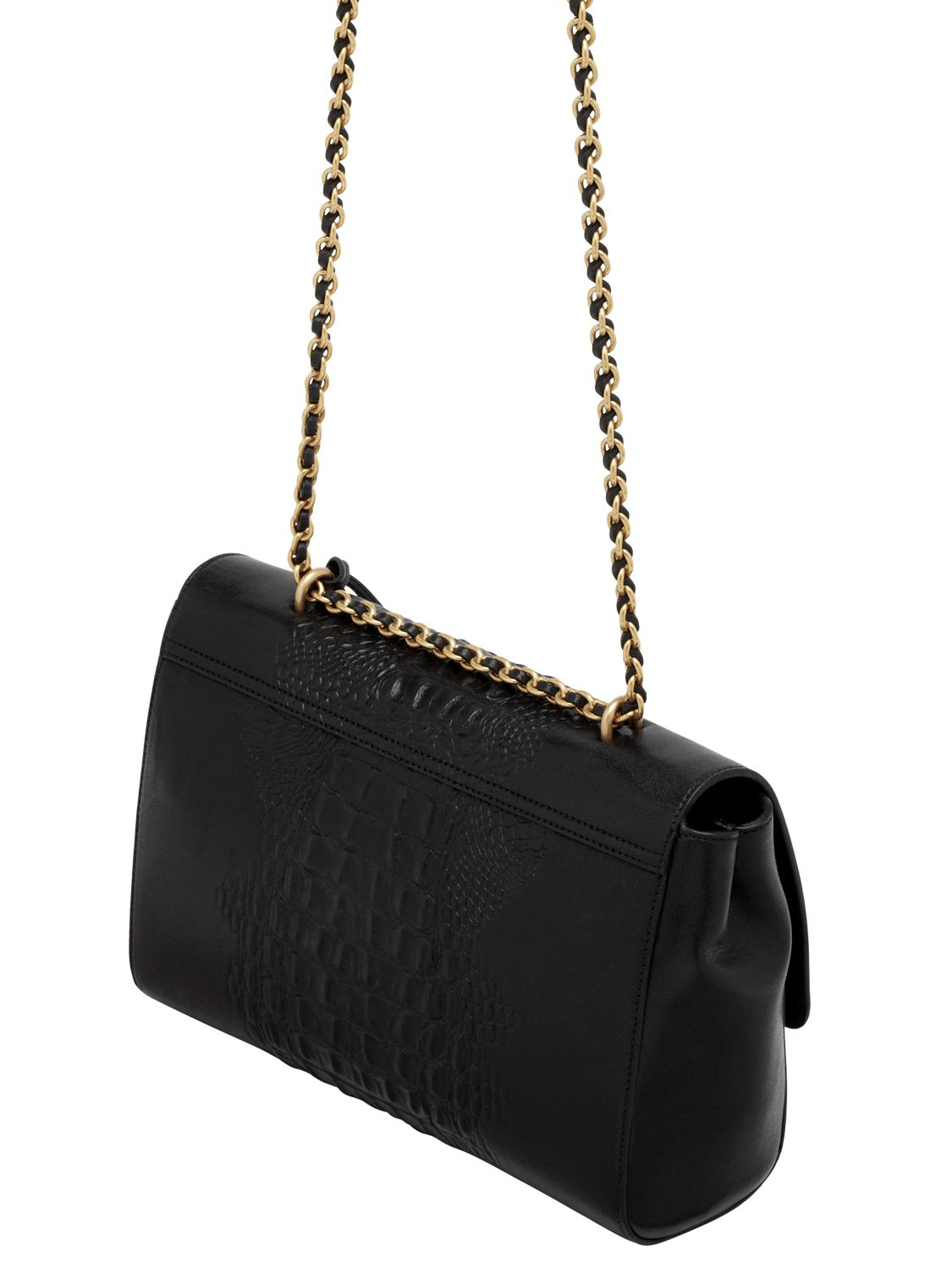 2540833a25c2 ... order lyst mulberry medium lily croc nappa leather bag in black 11850  a85e2