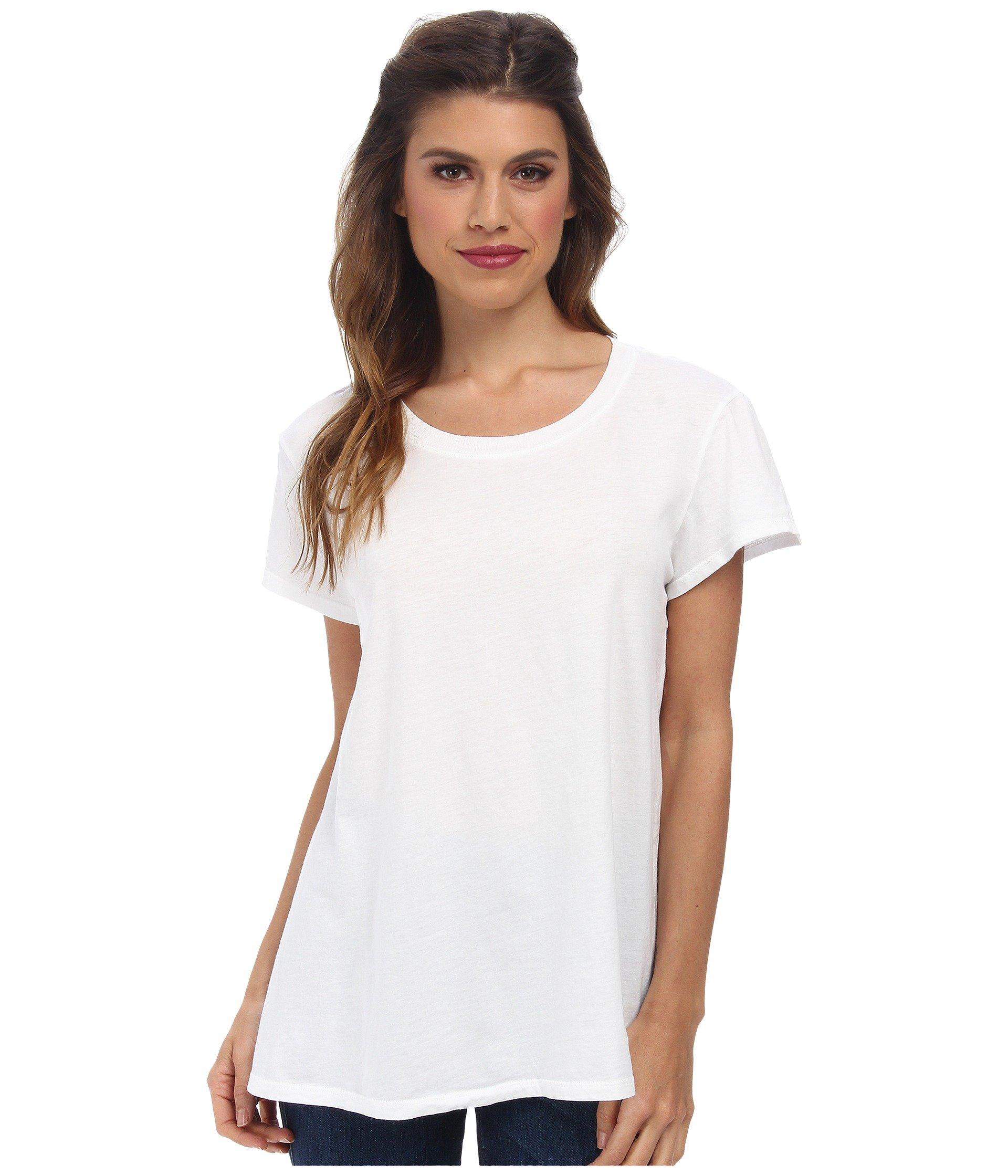 Michael stars dream tees short sleeve crew in white lyst for Michael stars tee shirts