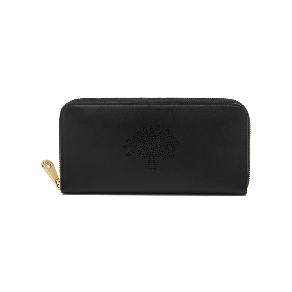 be45fb1a28 Mulberry Blossom Zip Around Wallet in Black - Lyst