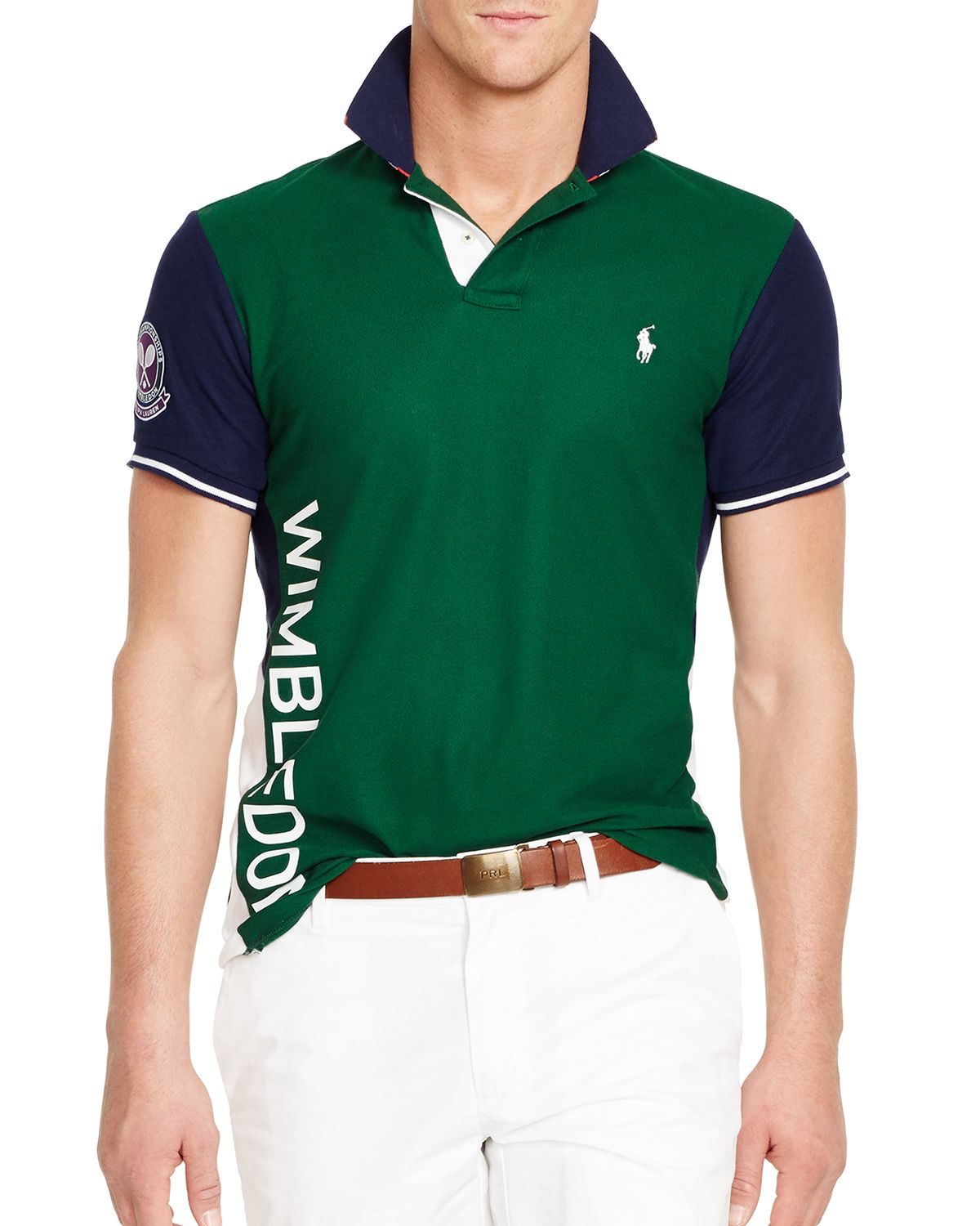 Lyst Ralph Lauren Polo Wimbledon Flag Collar Polo Shirt Slim Fit