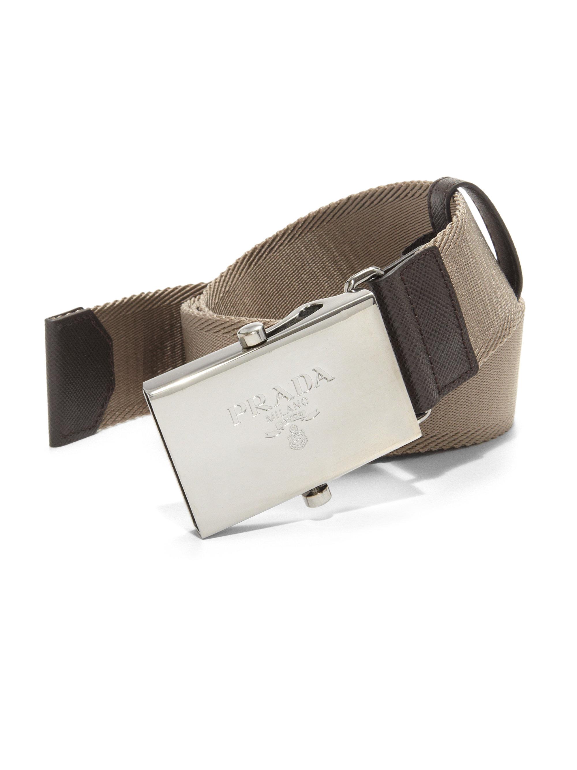 ... uk lyst prada nylon belt in brown for men 0de63 409bd 1fbd7e872f74e