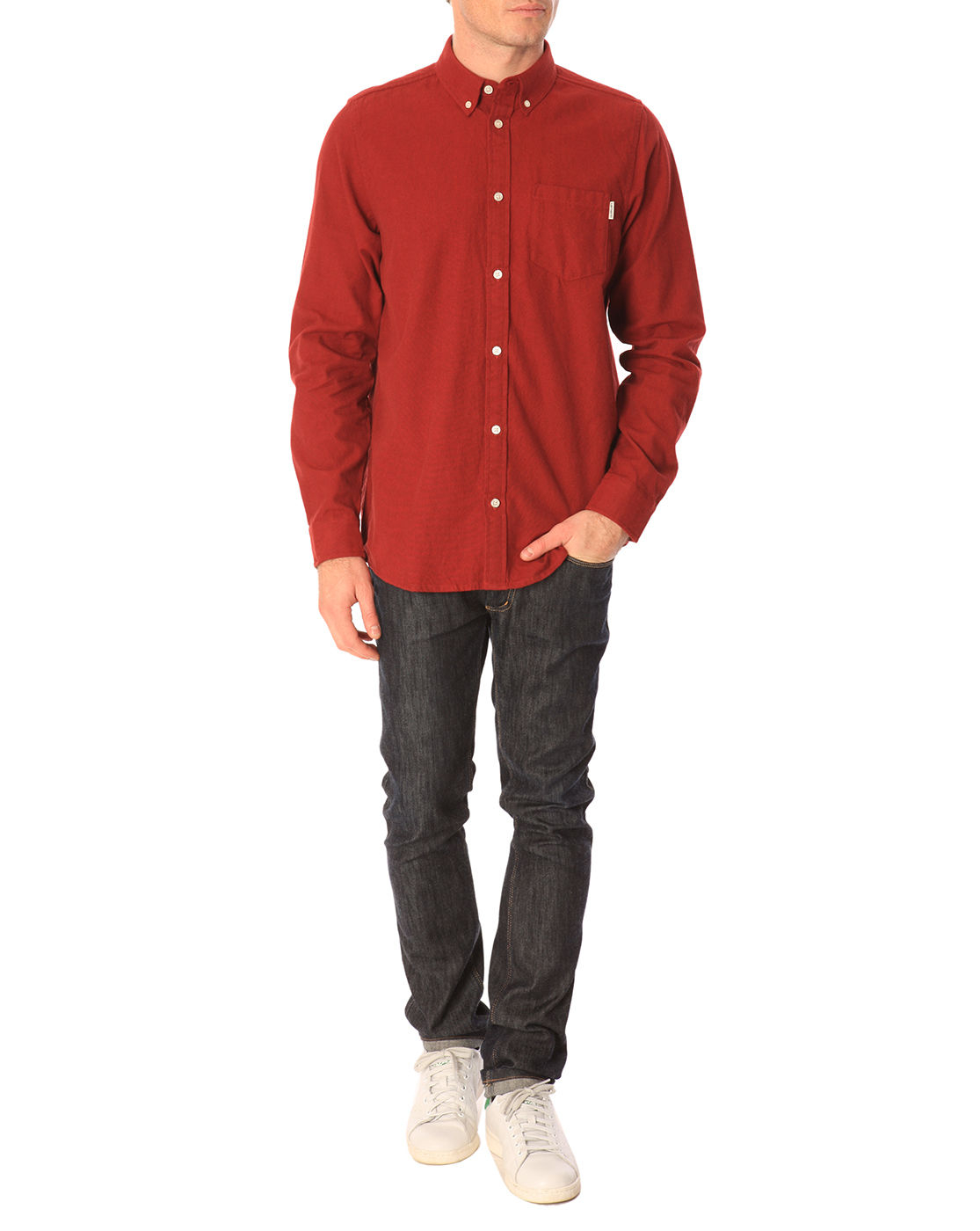 Carhartt dalton burgundy red flannel shirt in red for men for Carhartt burgundy t shirt