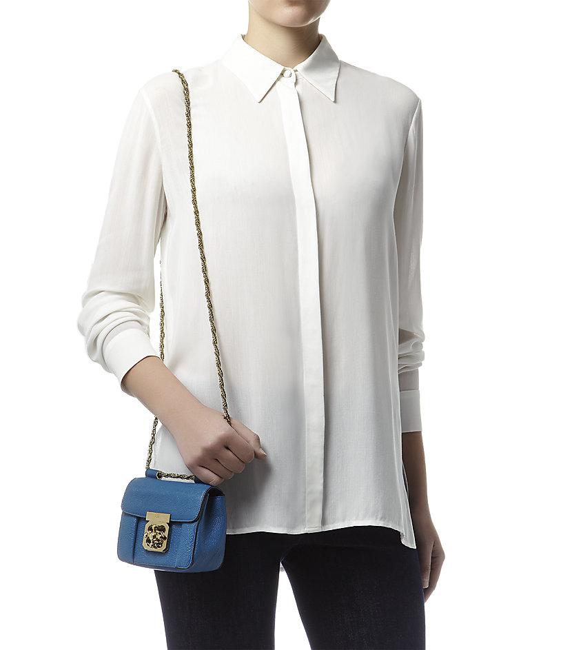 Chlo¨¦ Mini Elsie Shoulder Bag in Blue (Factory Blue)   Lyst