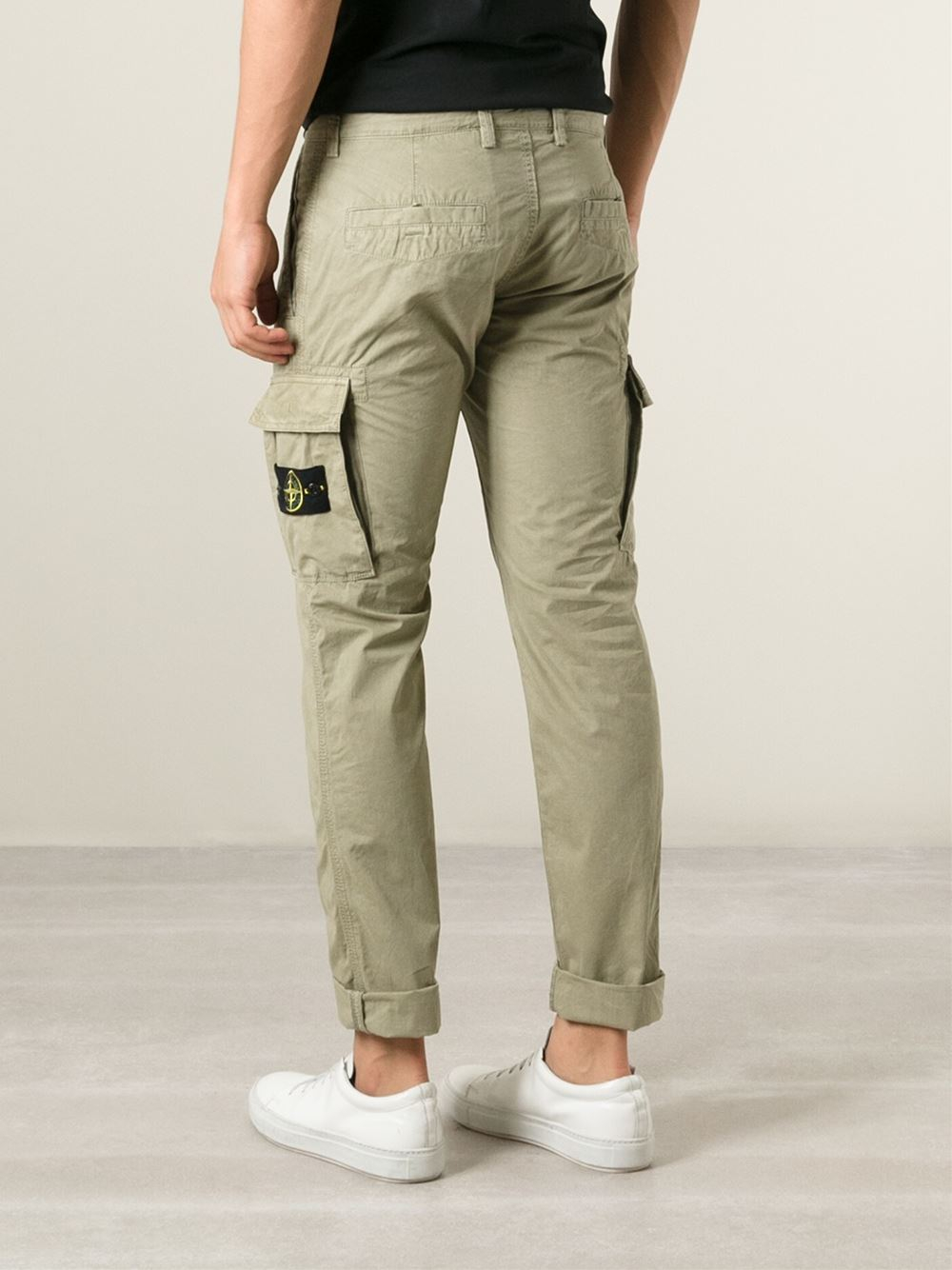 matching in colour enjoy cheap price genuine Stone Island Natural Cargo Trousers for men