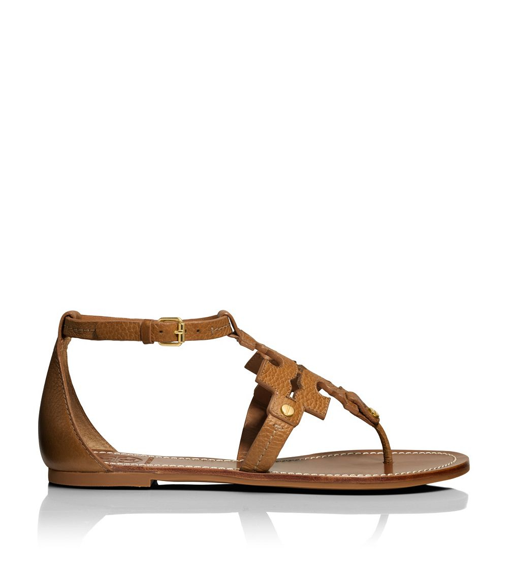 Tory Burch Phoebe Flat Thong Sandal In Brown Lyst