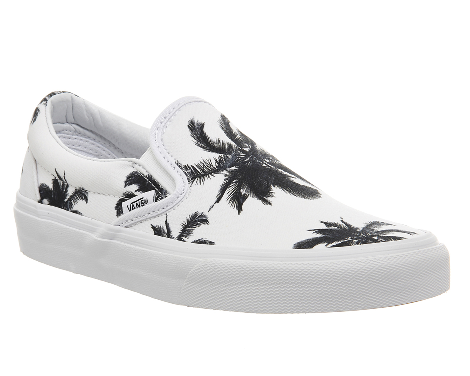 Vans Classic Slip On Shoes in White | Lyst