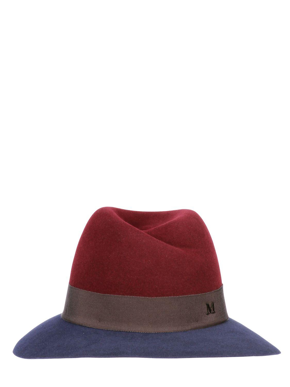 Lyst maison michel virginie two tone rabbit fur felt hat for Maison michel