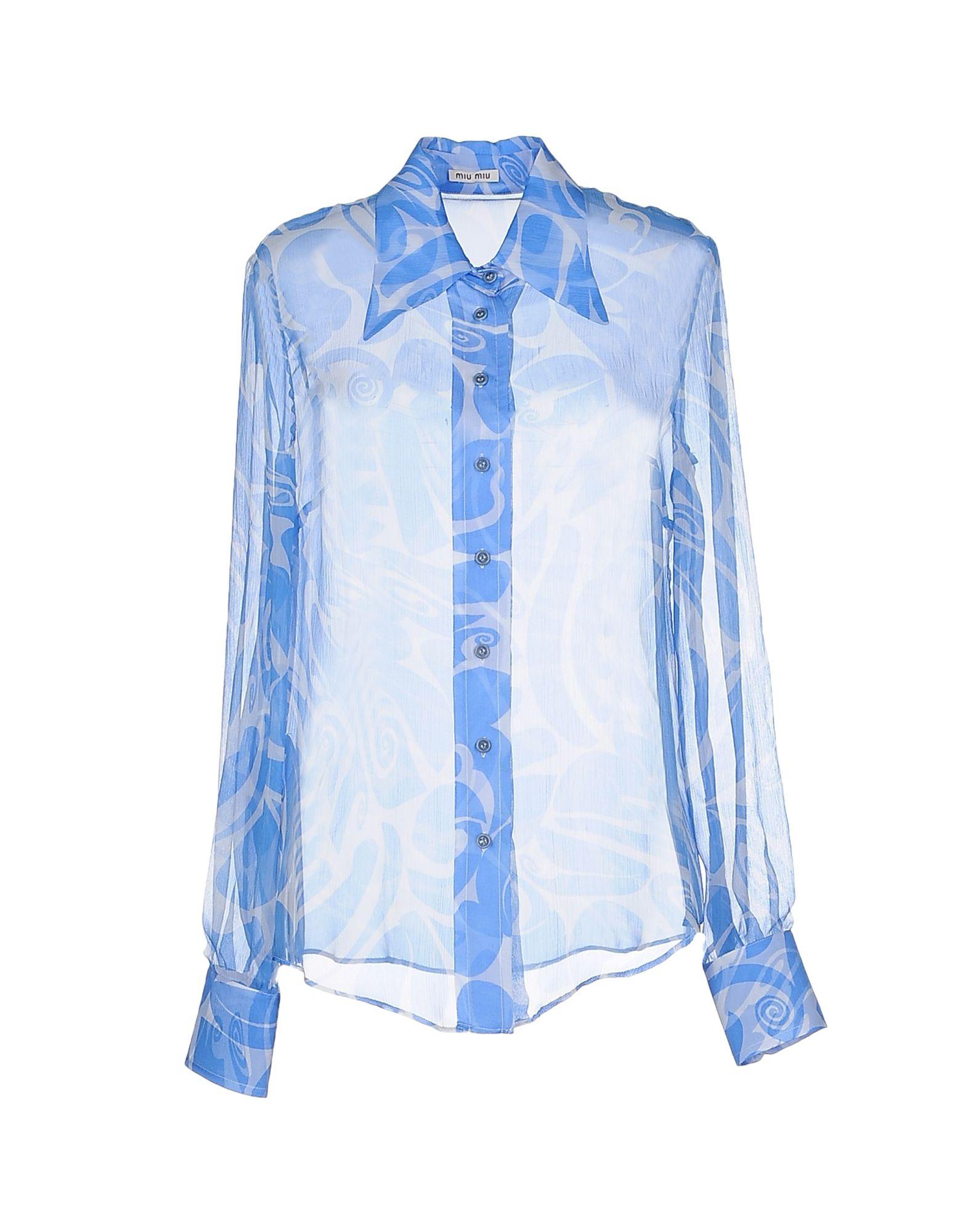 Miu miu shirt in blue lyst for Miu miu t shirt
