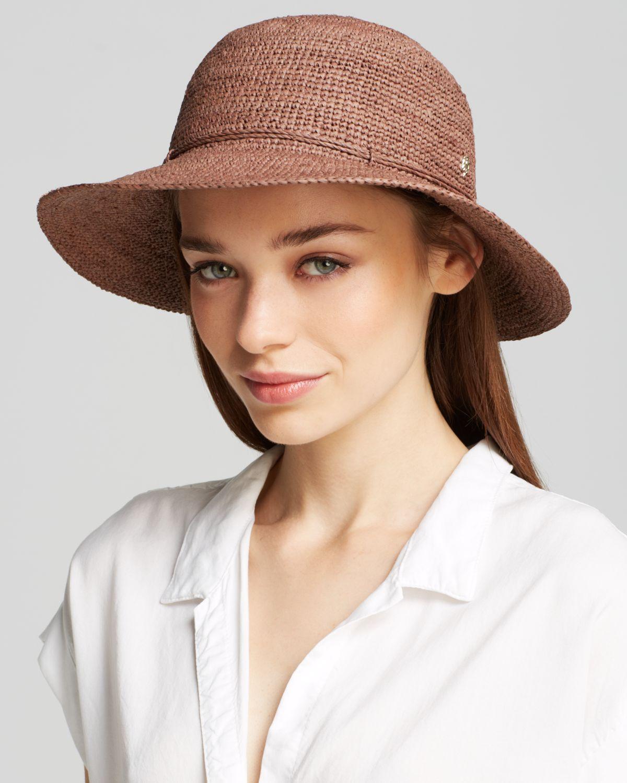 Helen Kaminski Caicos Hat in Brown - Lyst d92b00fb5247