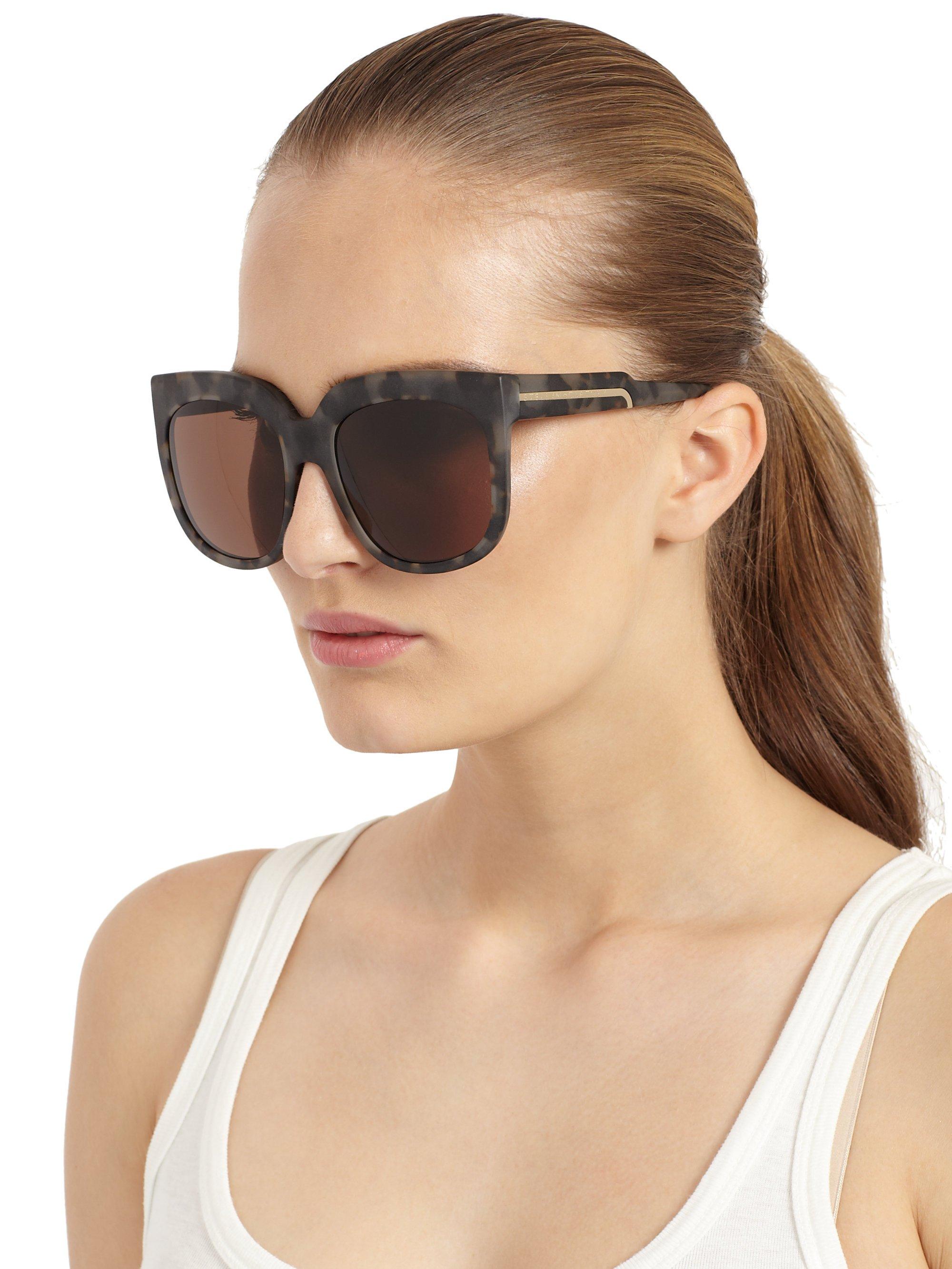 Stella Mccartney Sunglasses  stella mccartney squared cat s eye sunglasses in gray lyst