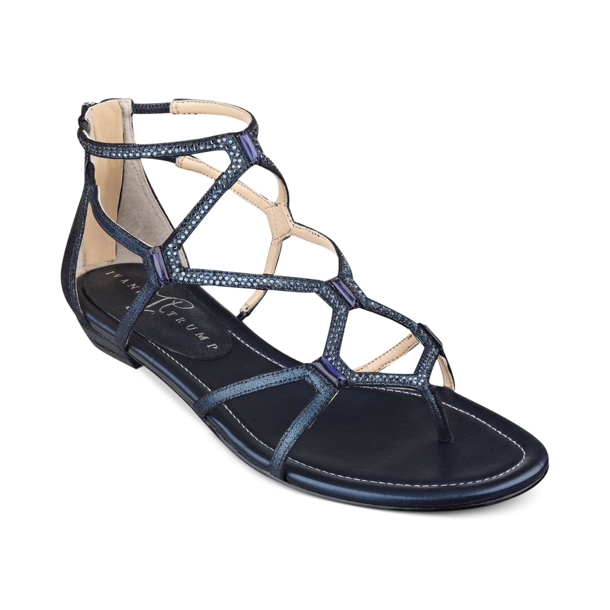 Ivanka Trump Kalia Flat Sandals In Blue Lyst - 2000x2000 - jpeg