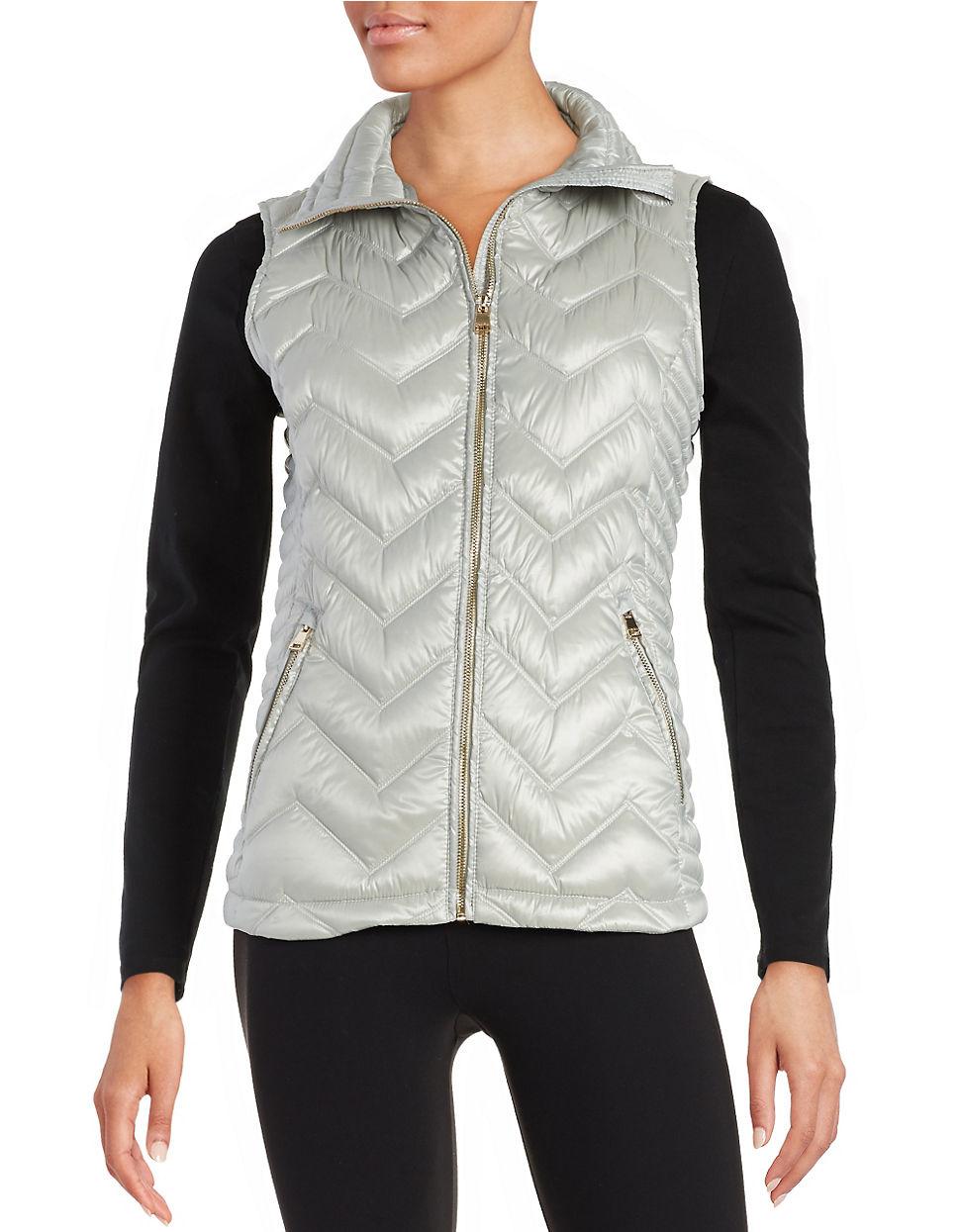 Lyst Calvin Klein Quilted Puffer Vest In Metallic