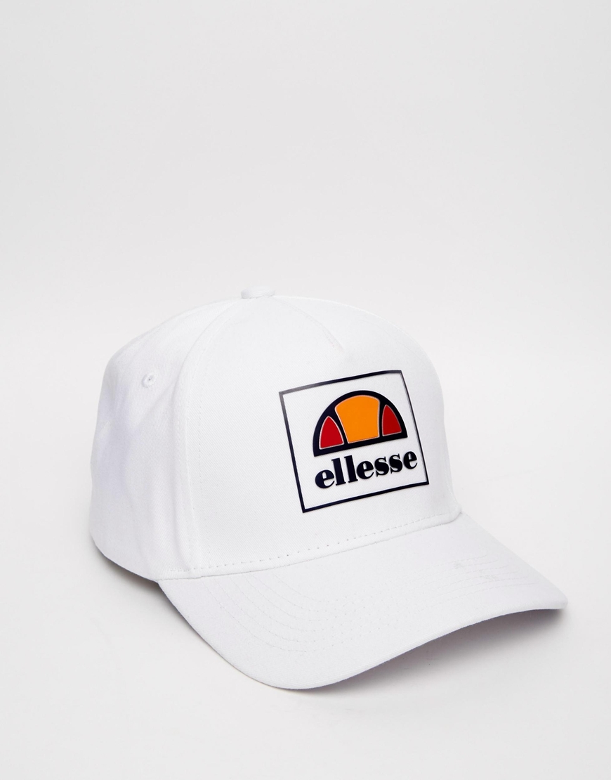 ac0ece96ed3b41 Ellesse Box Logo Baseball Cap Exclusive To Asos in White for Men - Lyst