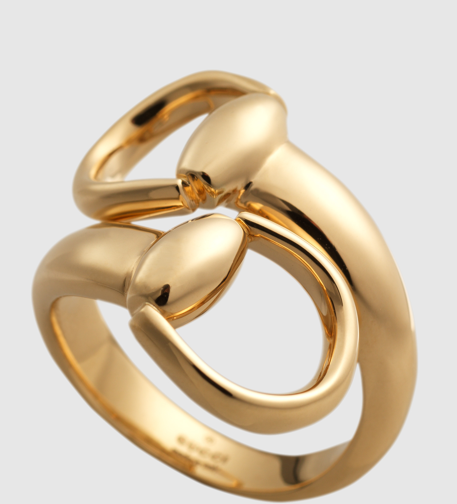 726e23439 Gucci Horsebit Ring In Yellow Gold in Yellow - Lyst