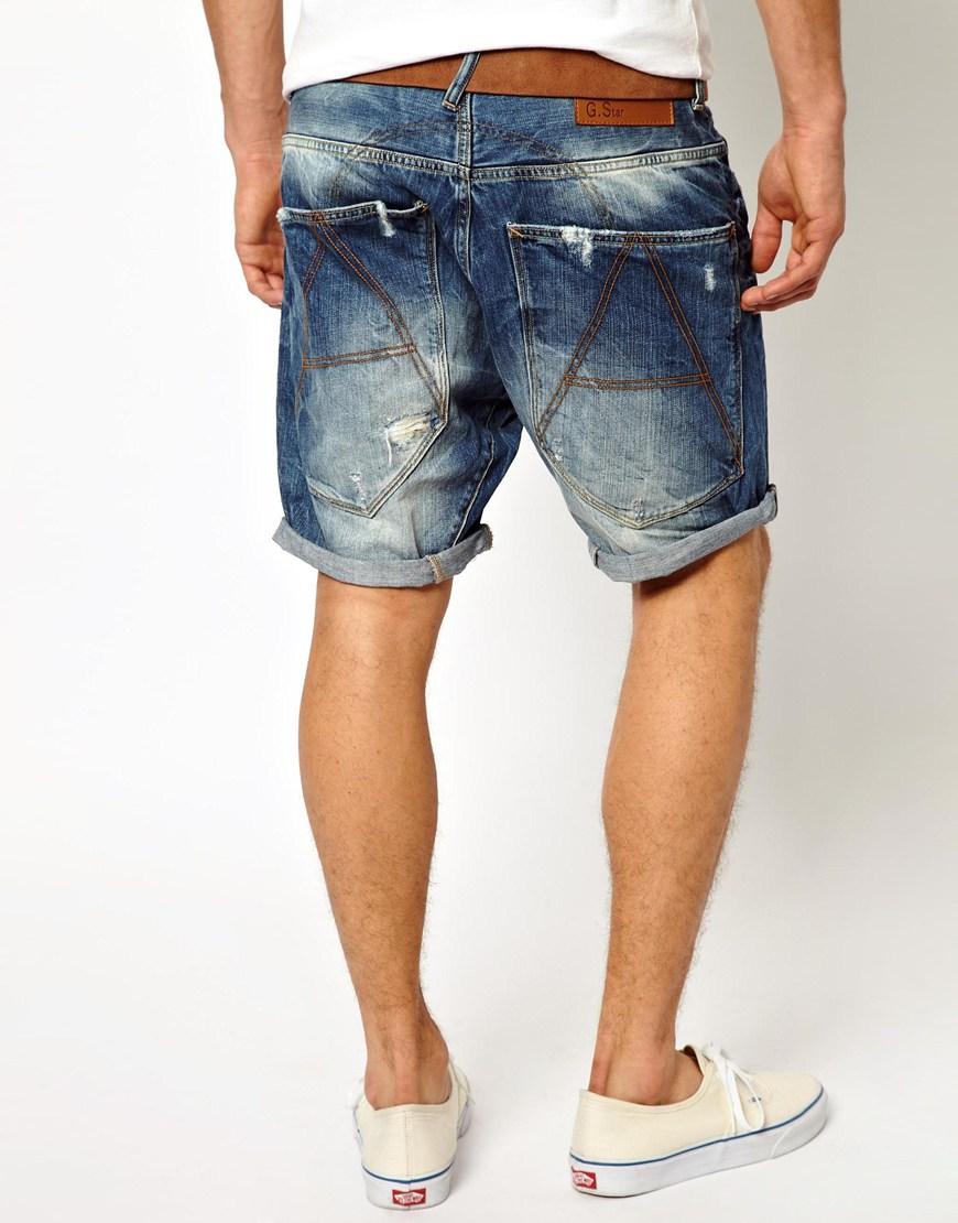 lyst g star raw g star denim shorts a crotch medium aged. Black Bedroom Furniture Sets. Home Design Ideas