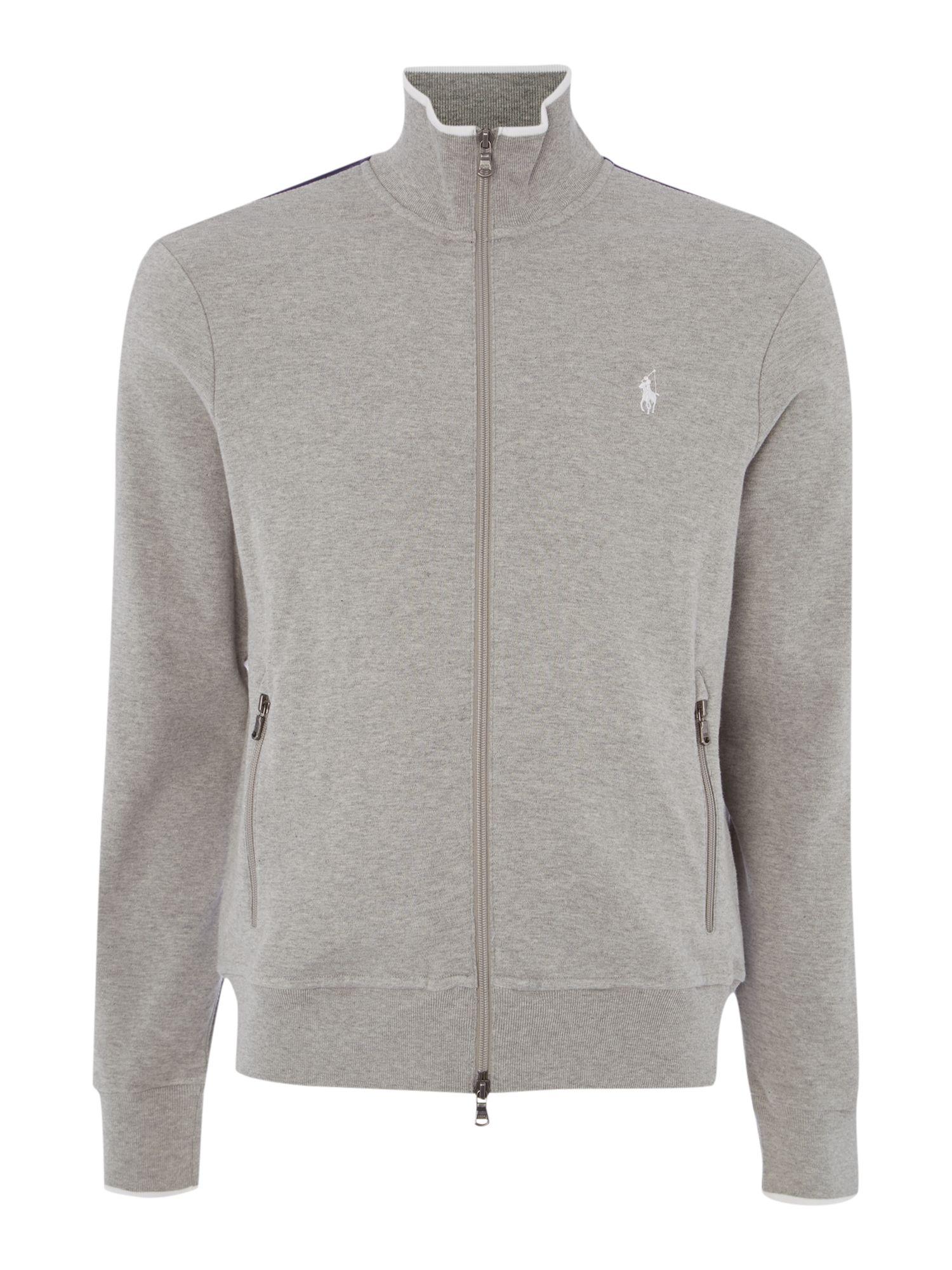 Polo Ralph Lauren Zip Thru Sweat Shirt In Gray For Men