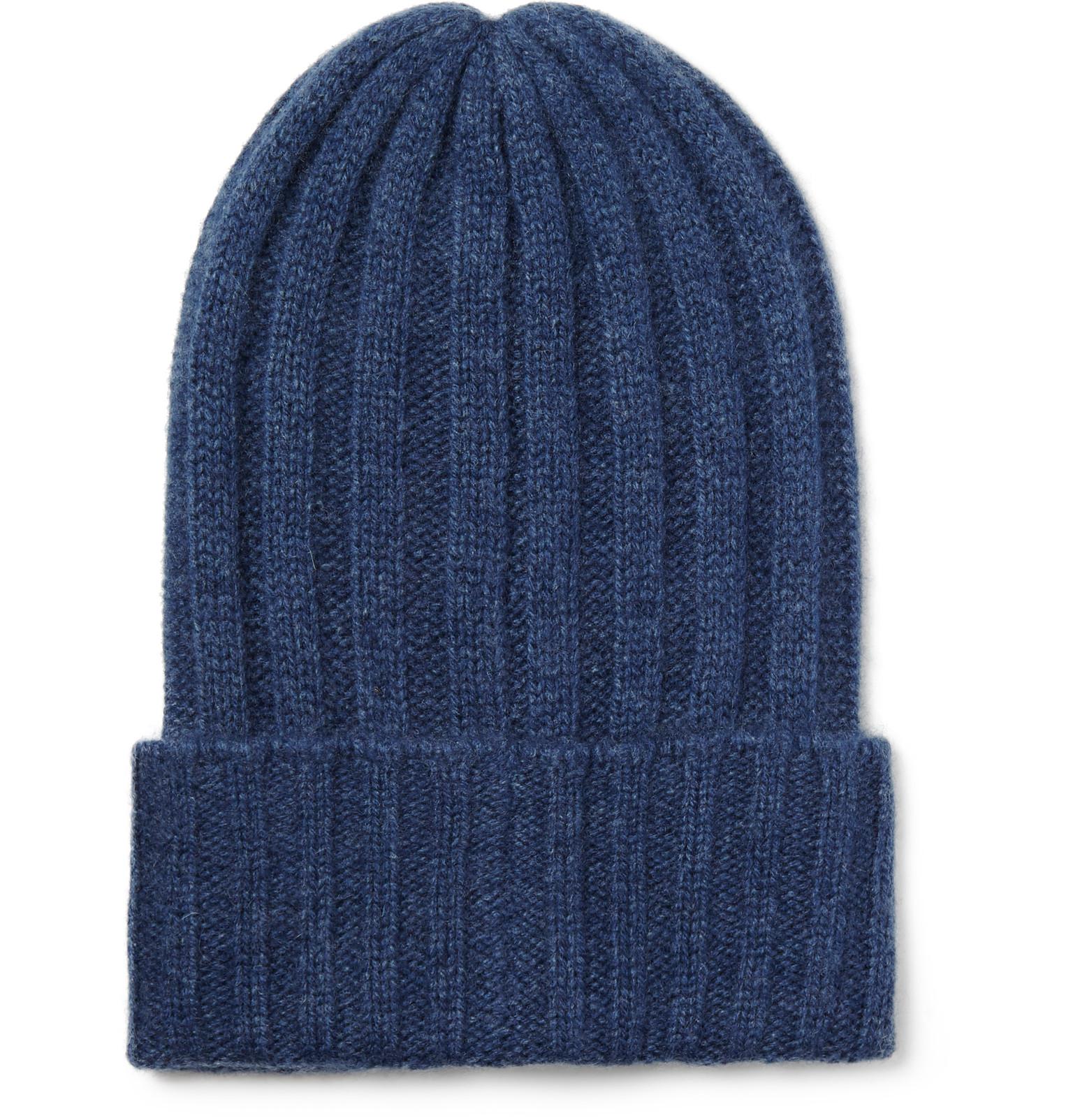 rib knit beanie - Blue The Elder Statesman pCRdFx