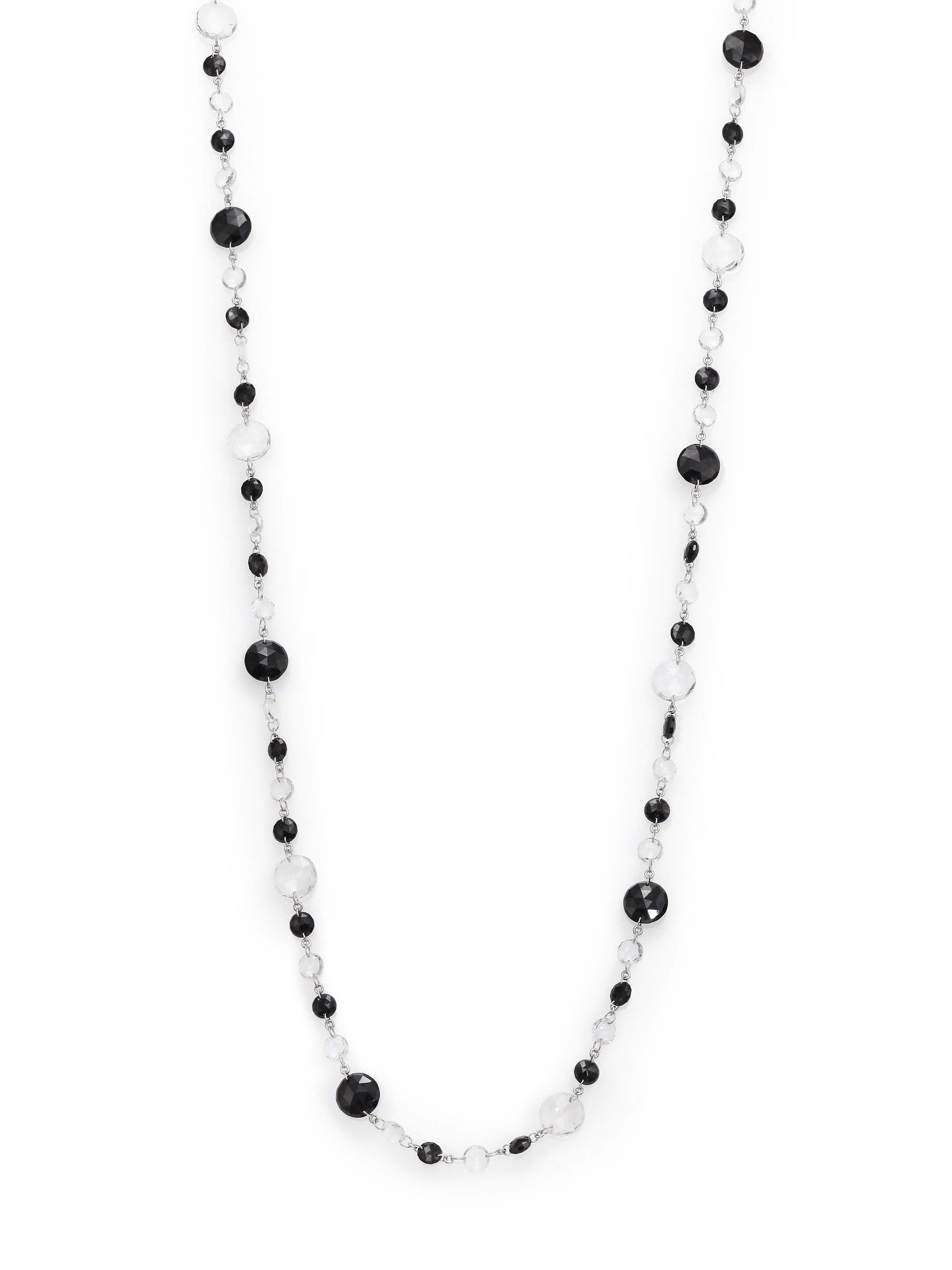 Coomi Opera Diamond Crystal & Black Spinel Beaded Necklace in