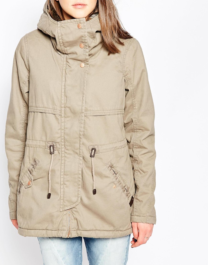 Only drawstring waist parka