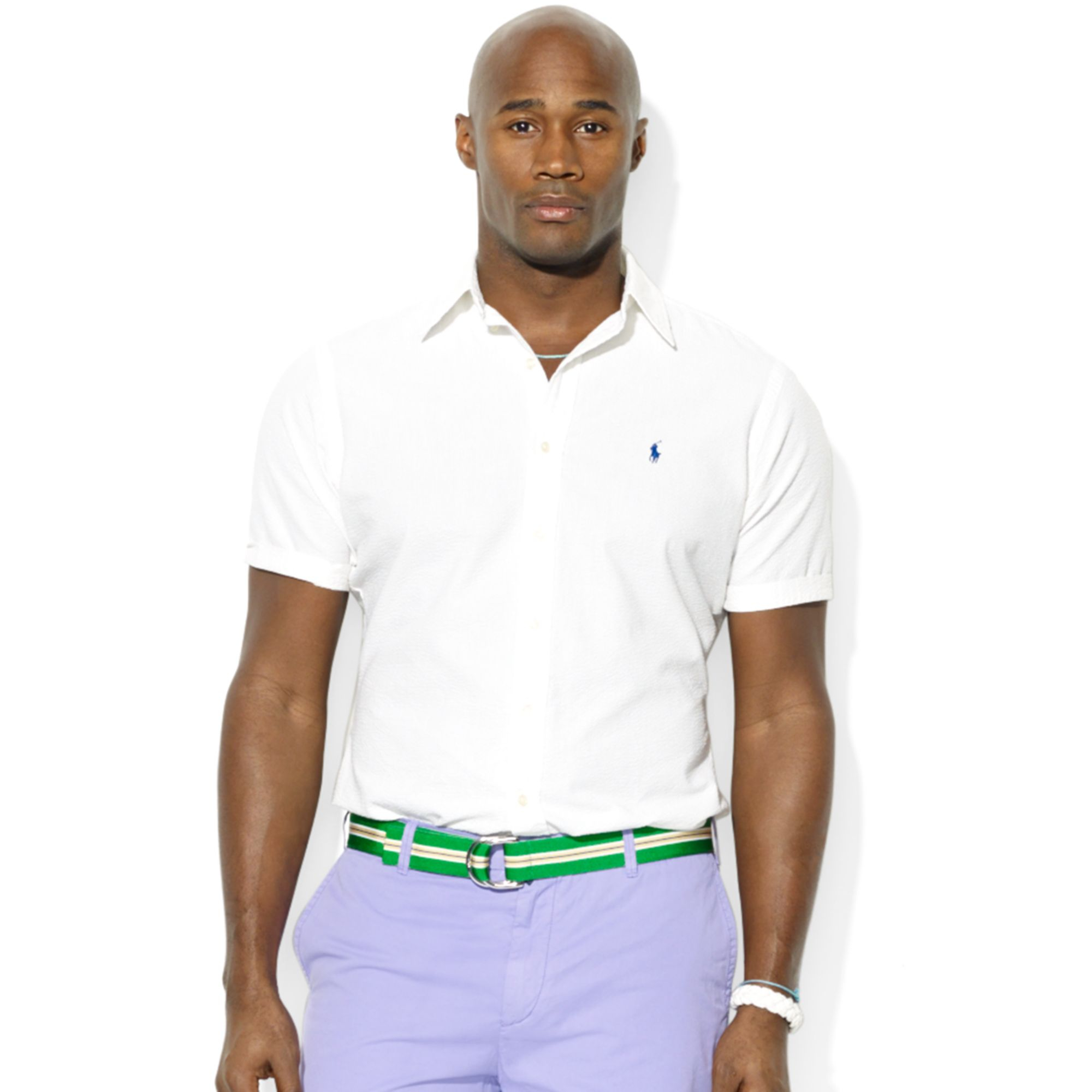 Polo ralph lauren polo big and tall striped seersucker for Tall ralph lauren polo shirts