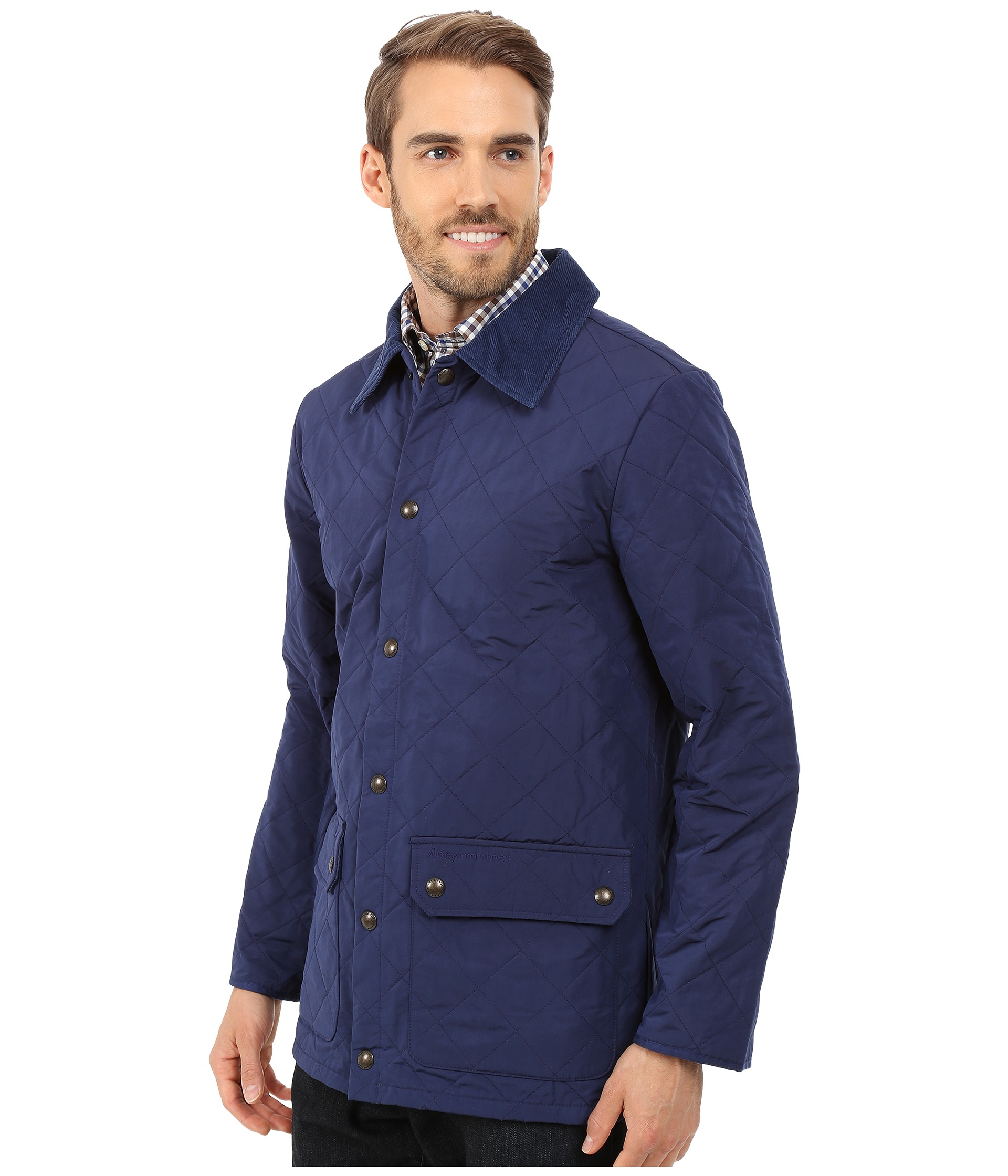 Lyst Vineyard Vines Quilted Jacket In Blue For Men