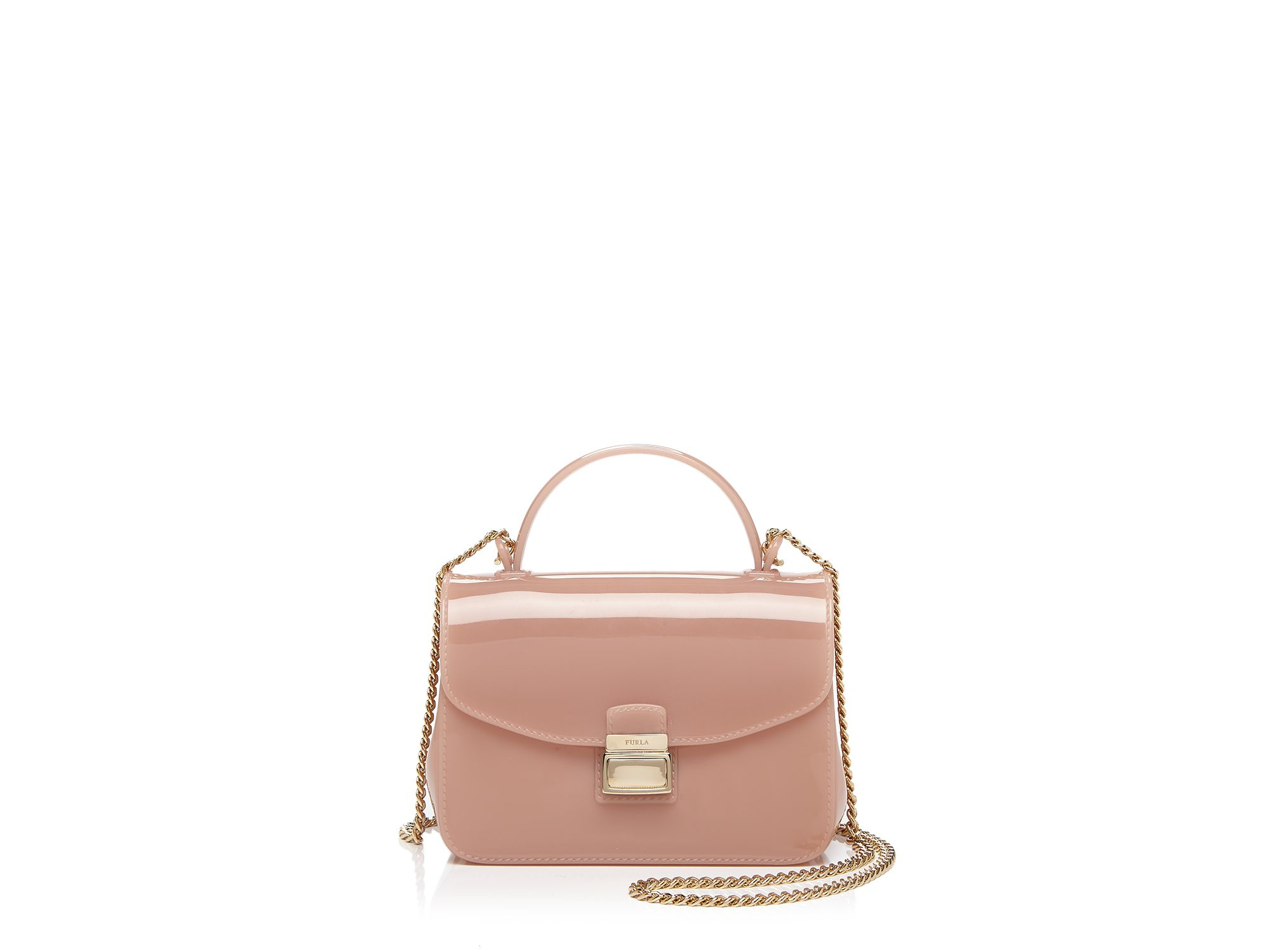 furla mini candy metropolis crossbody in pink lyst. Black Bedroom Furniture Sets. Home Design Ideas