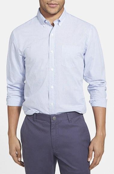 Bonobos 39 horizontal banker stripe 39 slim fit sport shirt in for Horizontal striped dress shirts men