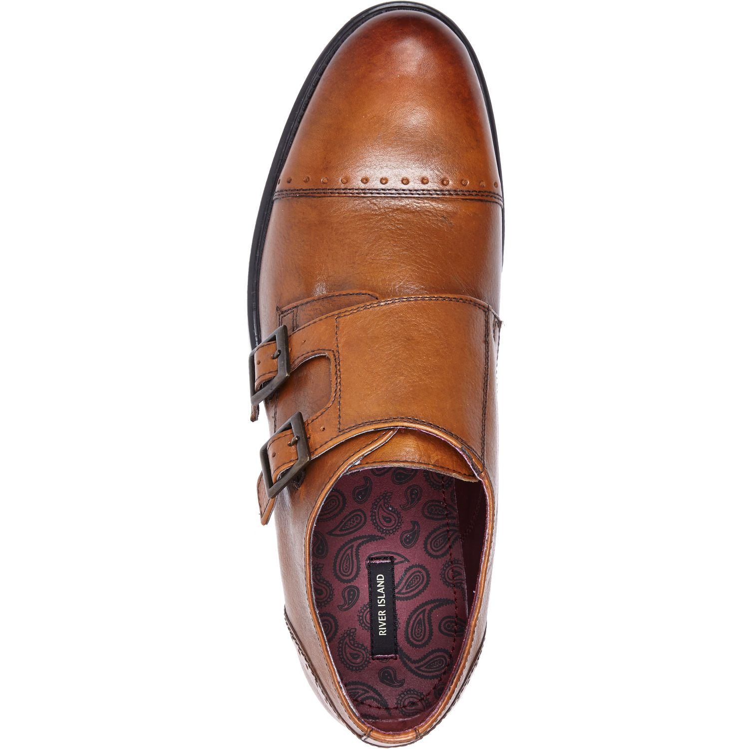 eb3f54f30d4 River Island Tan Double Monk Strap Shoes in Brown for Men - Lyst