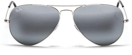 ray ban bubble wrap aviator g0sb  silver mirrored aviator sunglasses ray ban for men