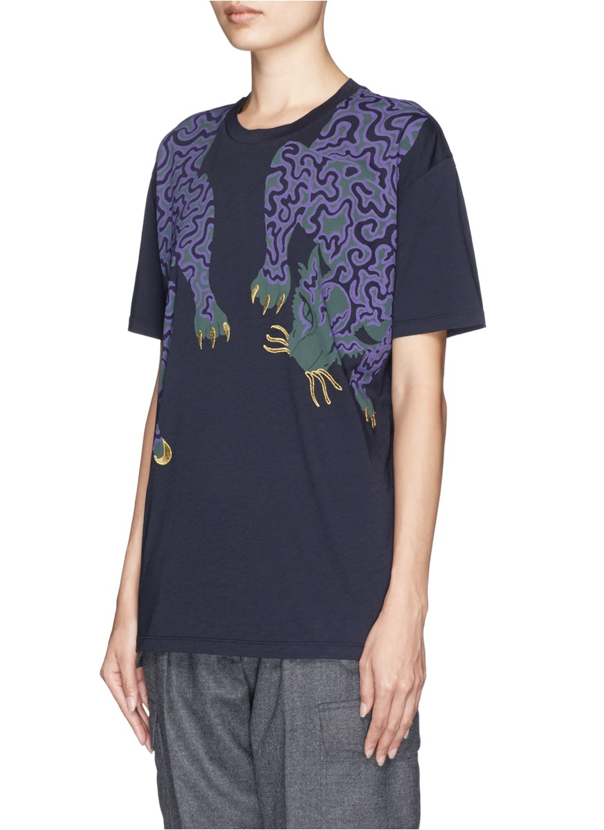 Cheap In China Eastbay Printed Cotton-jersey T-shirt Stella McCartney Clearance Shop Offer Cheap Sale Genuine Cheap Professional i3c8fl