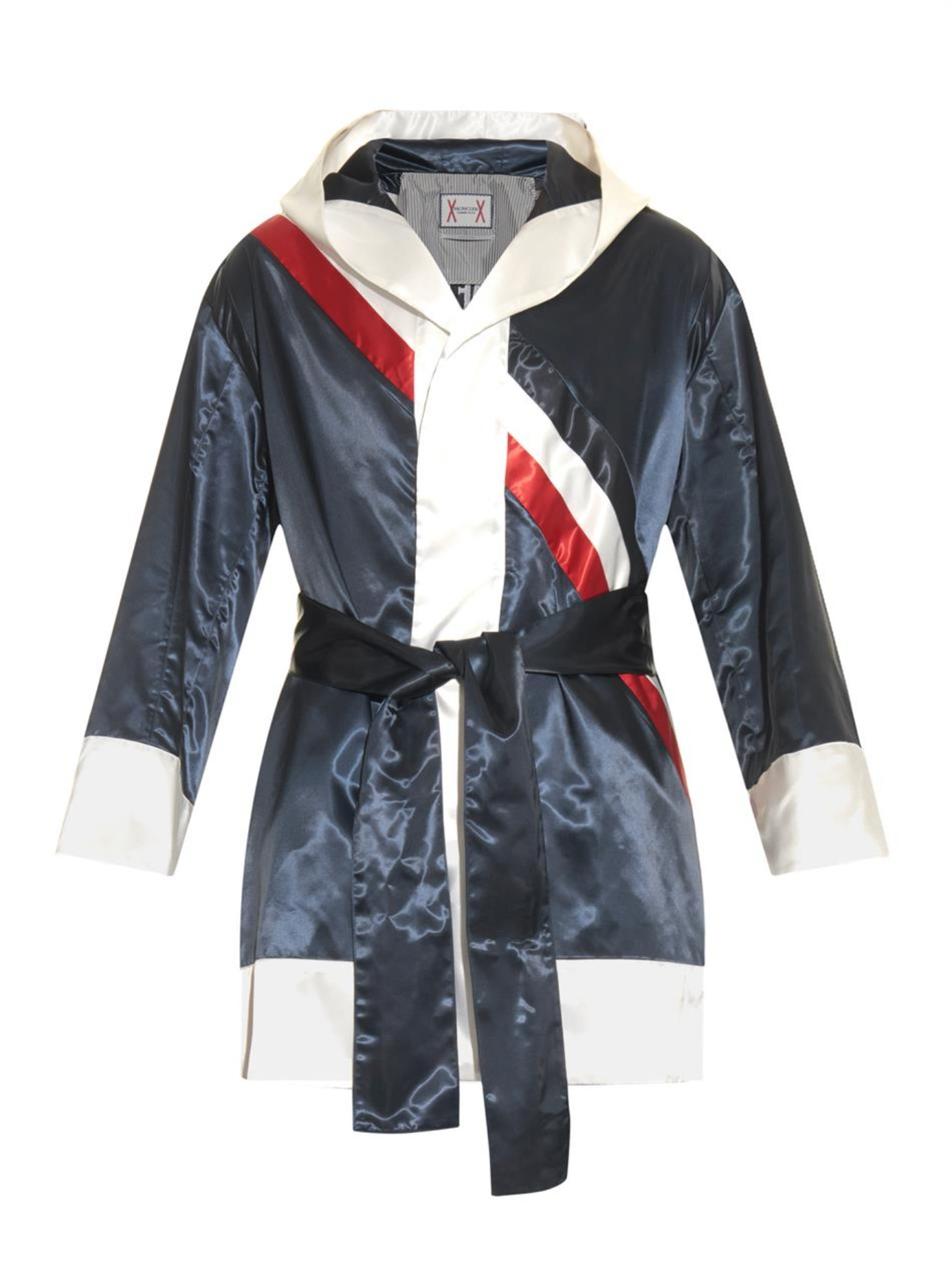 Lyst - Moncler Gamme Bleu Colour-block Dressing Gown in Blue for Men