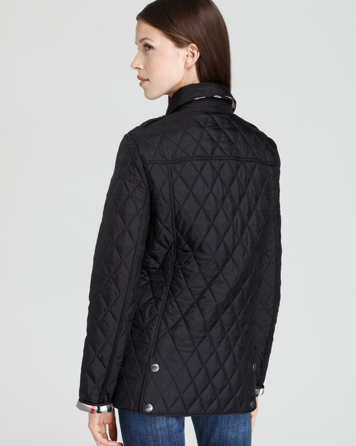 Lyst Burberry Pirmont Quilted Jacket In Black