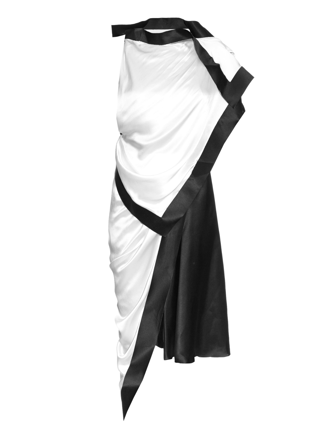 2eefc7b9ba8 Lyst - Thomas Tait Silk-satin Asymmetric Dress in White