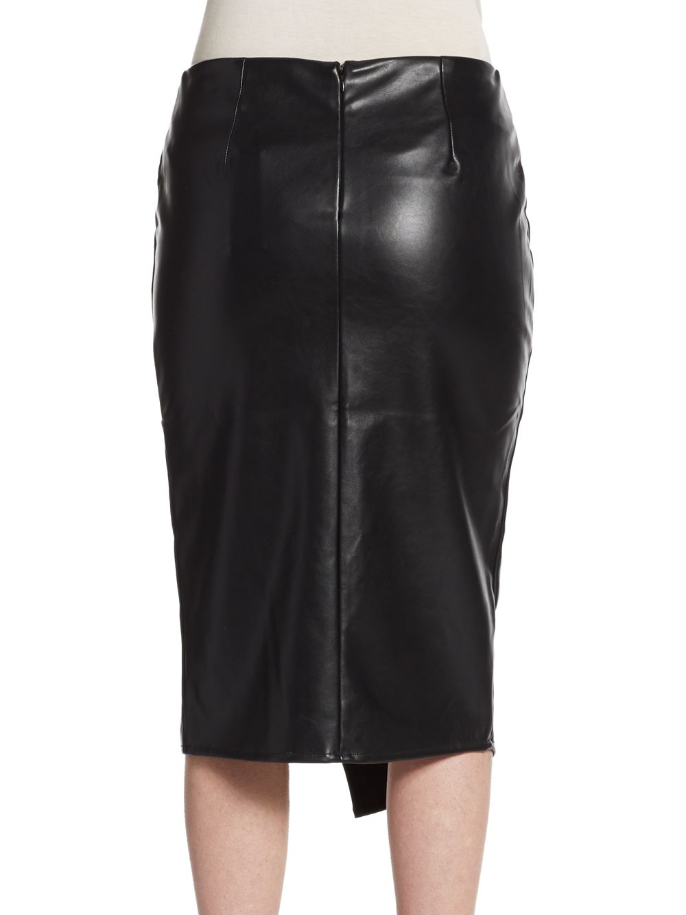 romeo and juliet couture faux leather slit pencil skirt in