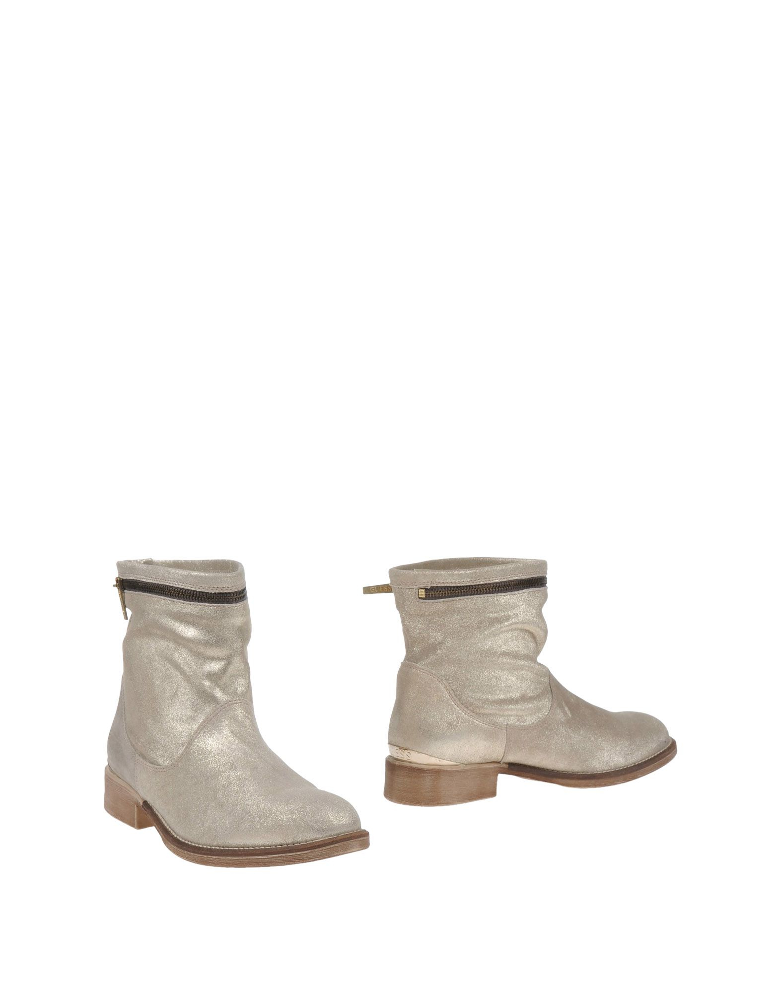 guess ankle boots in metallic lyst