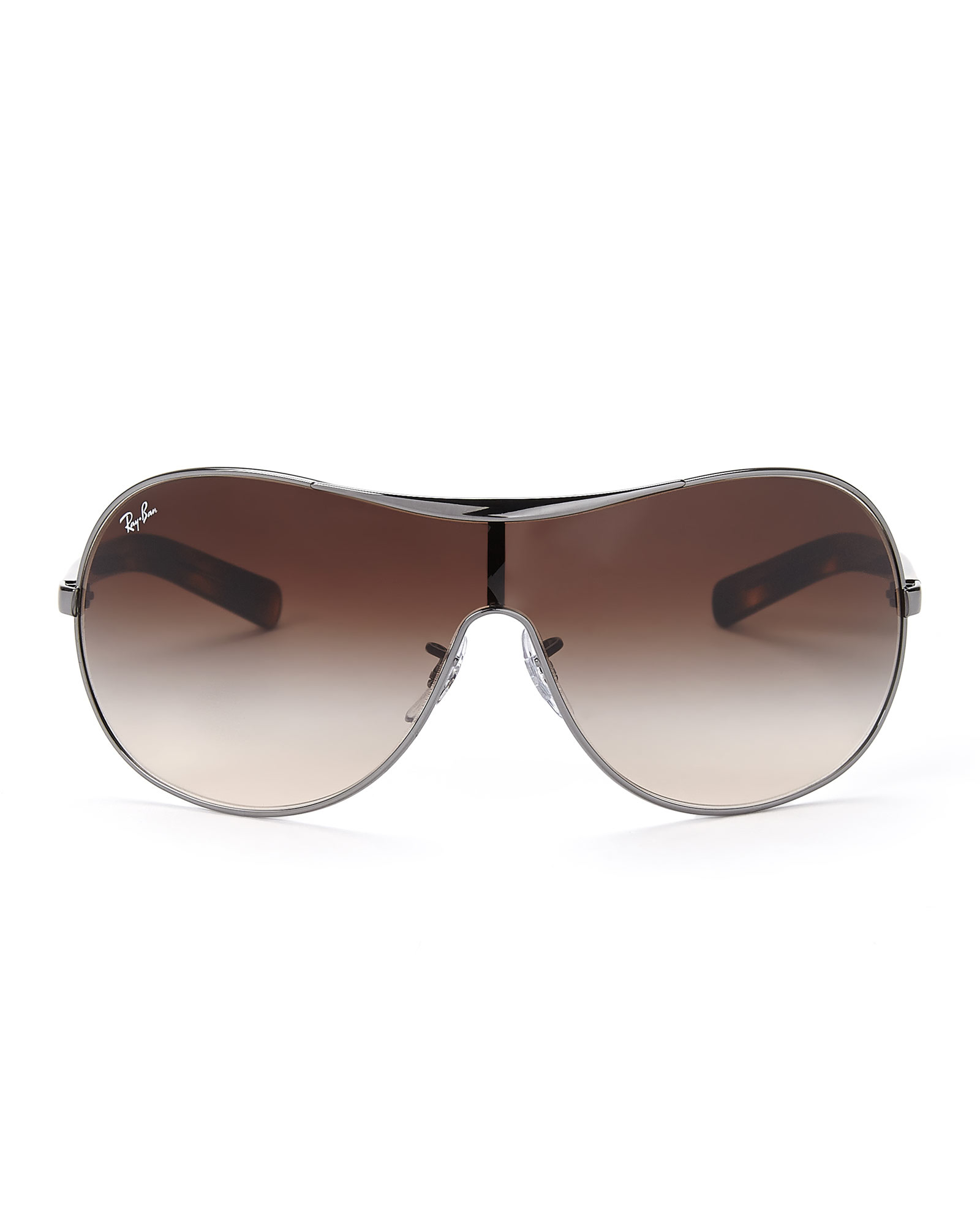Lyst - Ray-Ban Gunmetal Rb3455 Shield Sunglasses in Brown